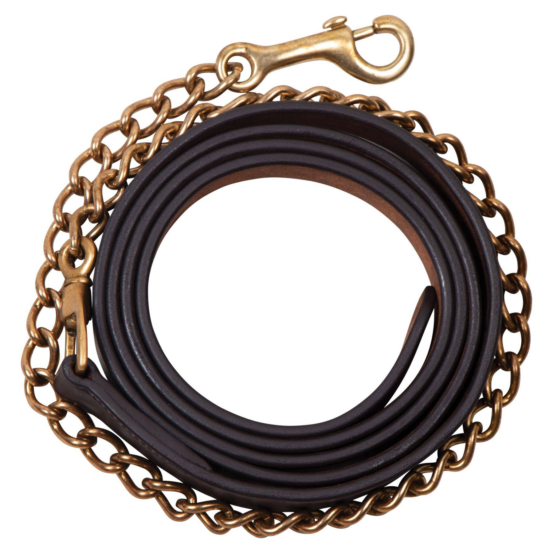 "Billy Royal® Leather Lead with 30"" Brass Chain"