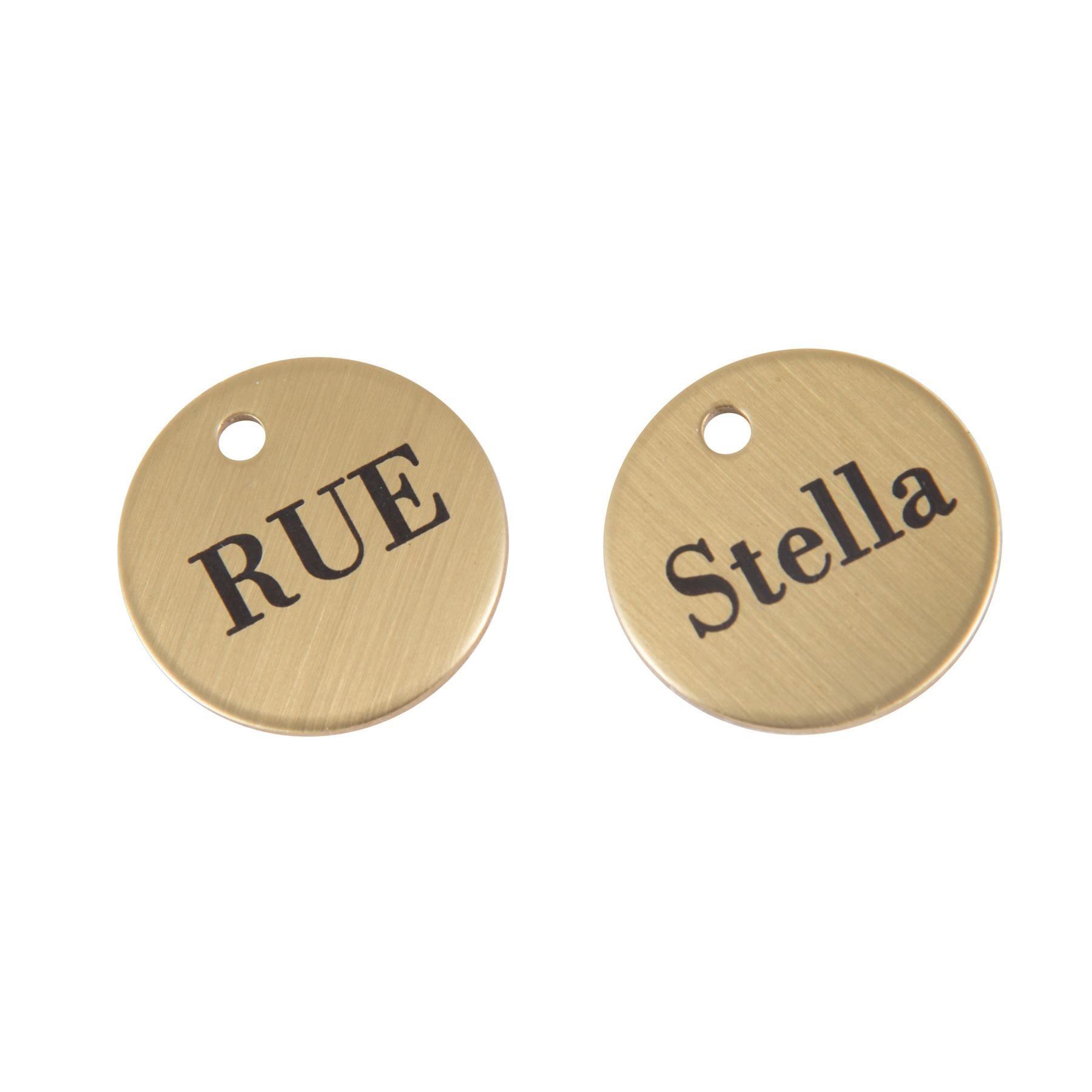 "Brass Bridle & Halter Name Tag 1"" disc"