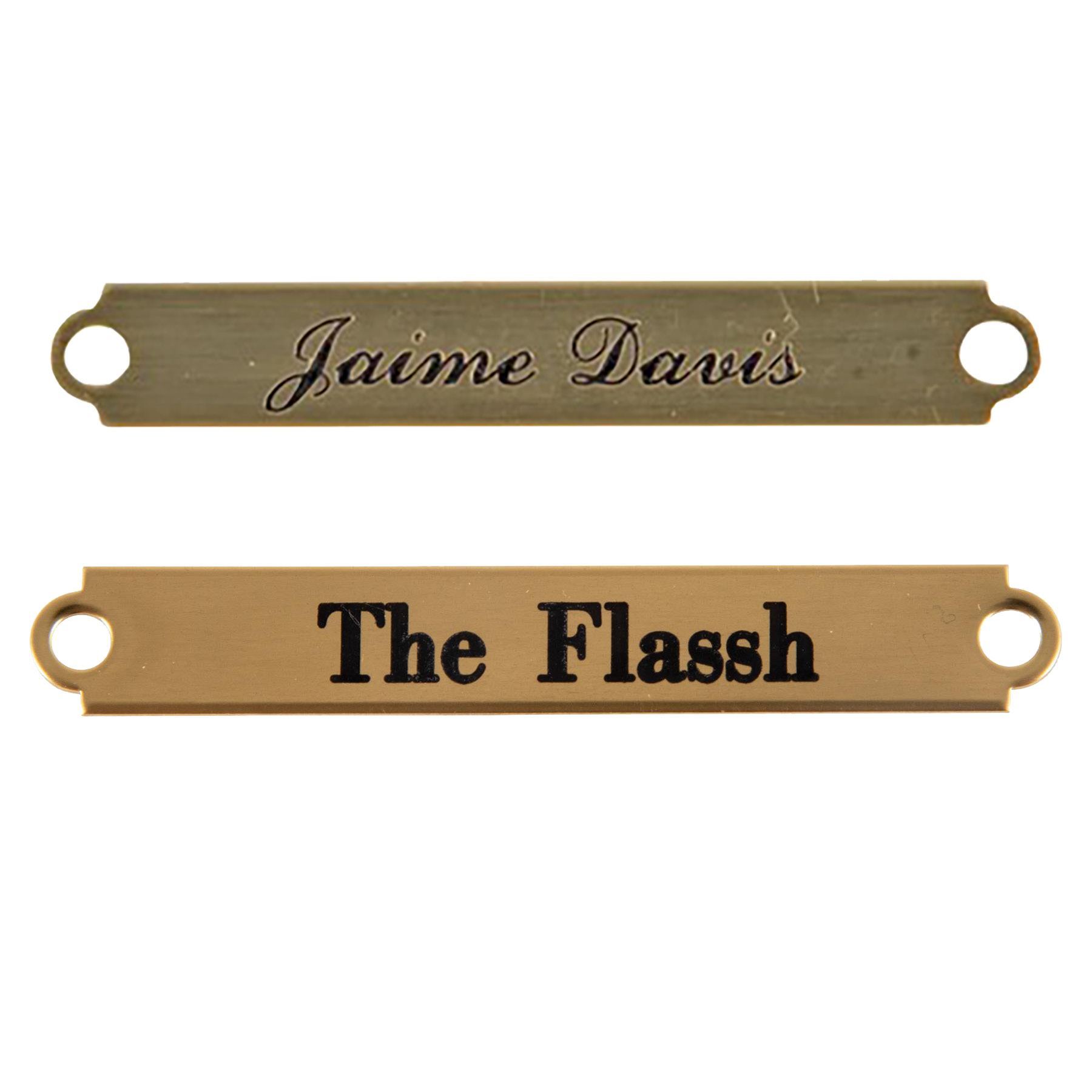 Notched Bridle Name Plate
