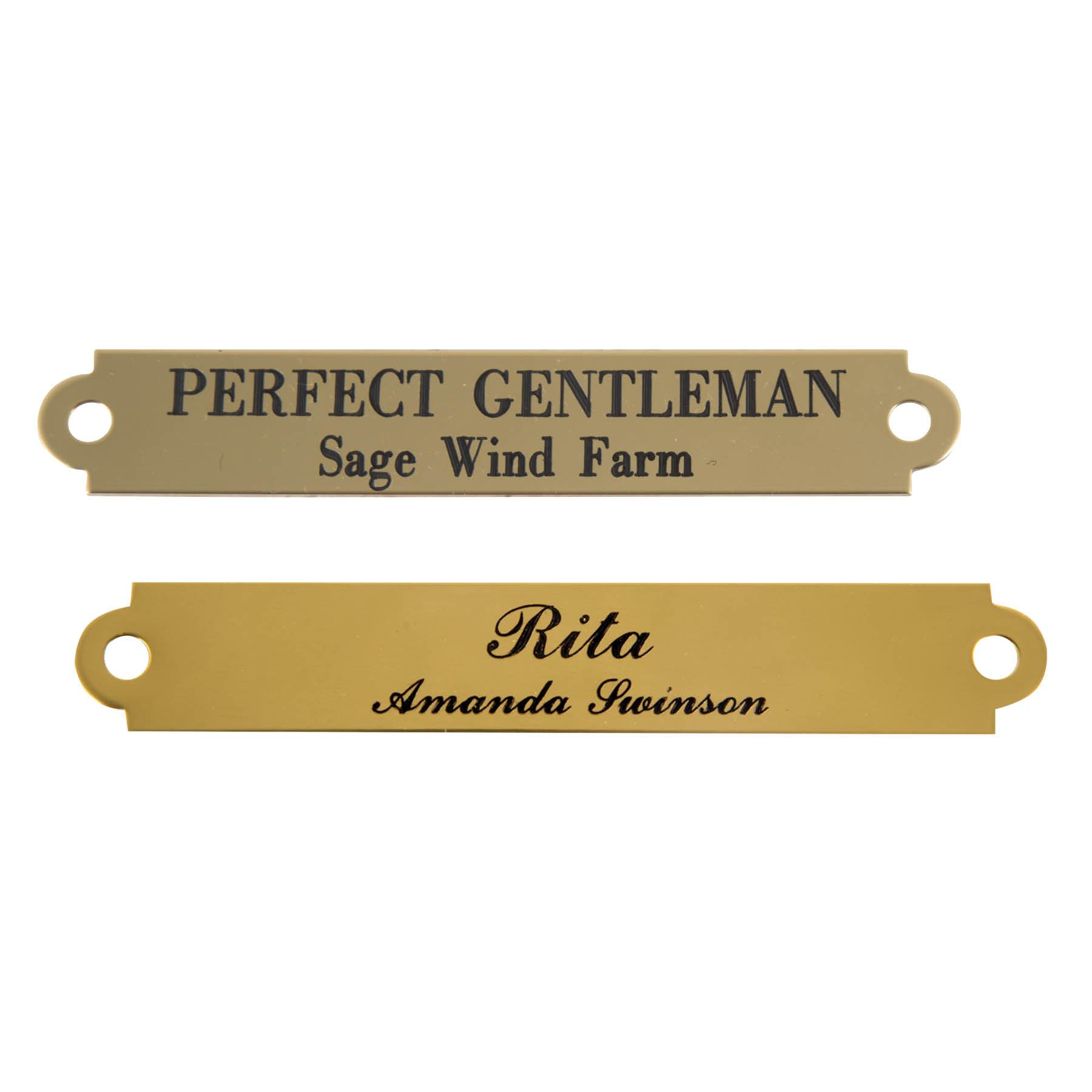 notched halter name plate 3 4 in stable at schneider saddlery