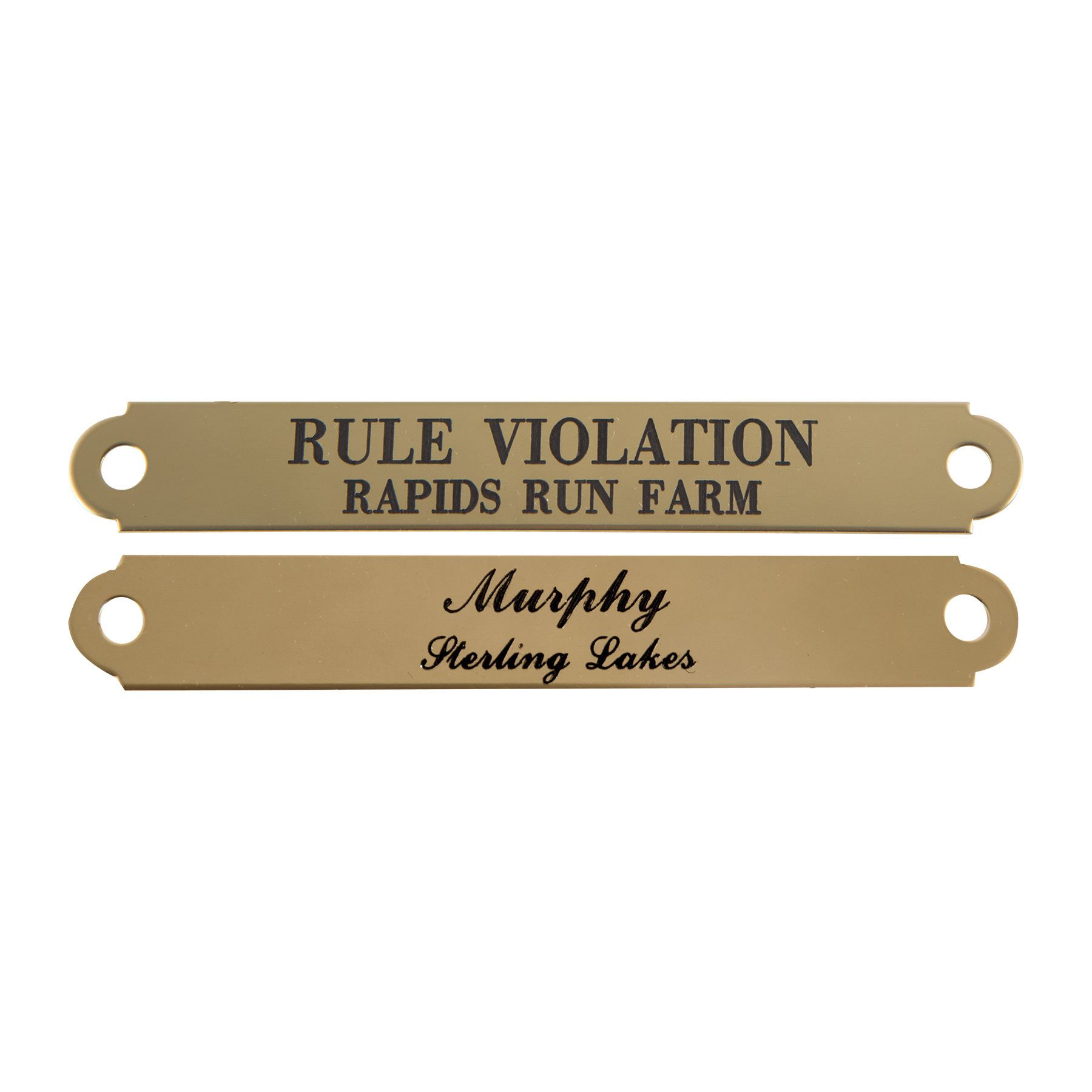 Notched Halter Name Plate 5/8""