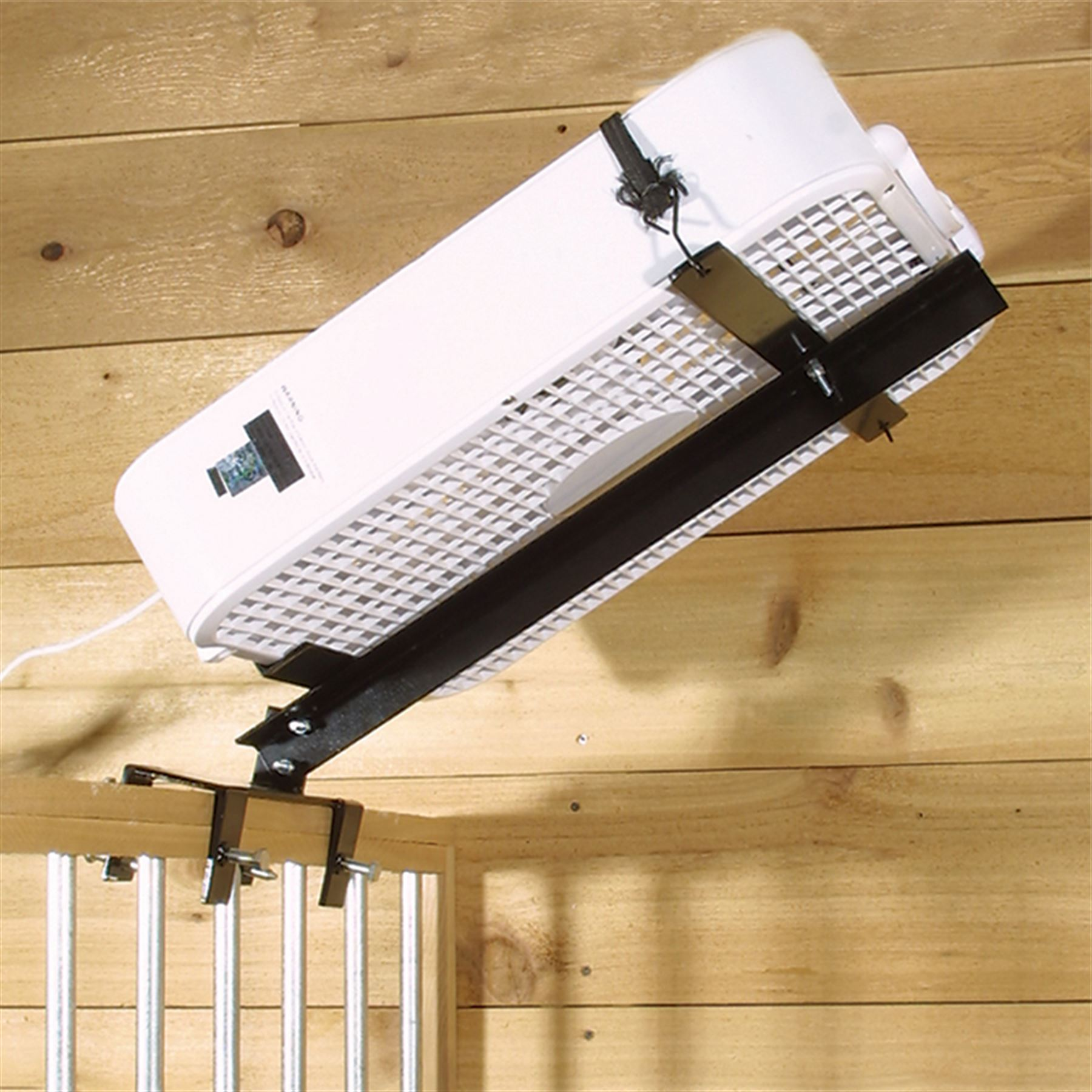 Horse Stall Ventilation : Easy up overhead stall fan holder in supplies at
