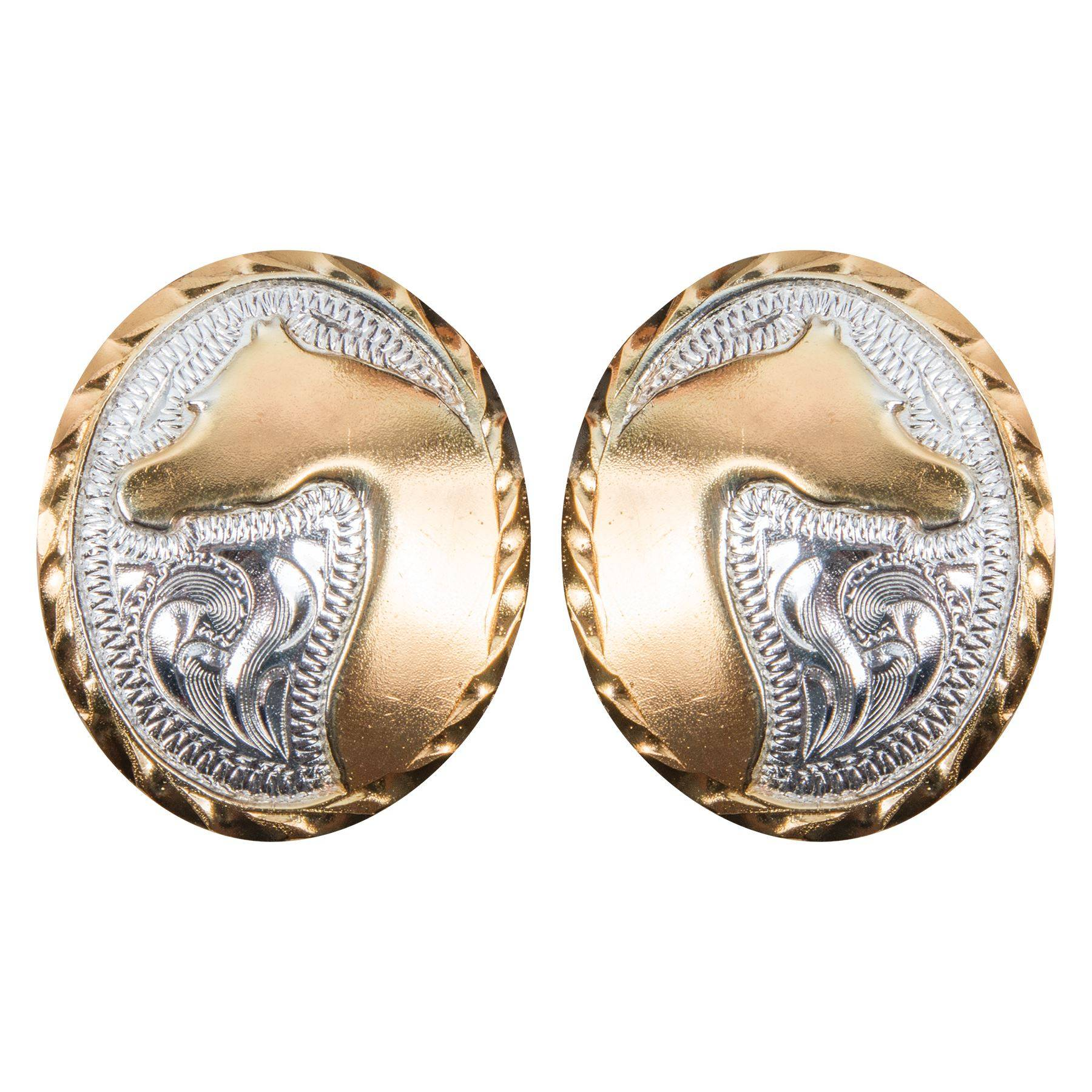 Arabian Gold and Silver Horse Head Conchos