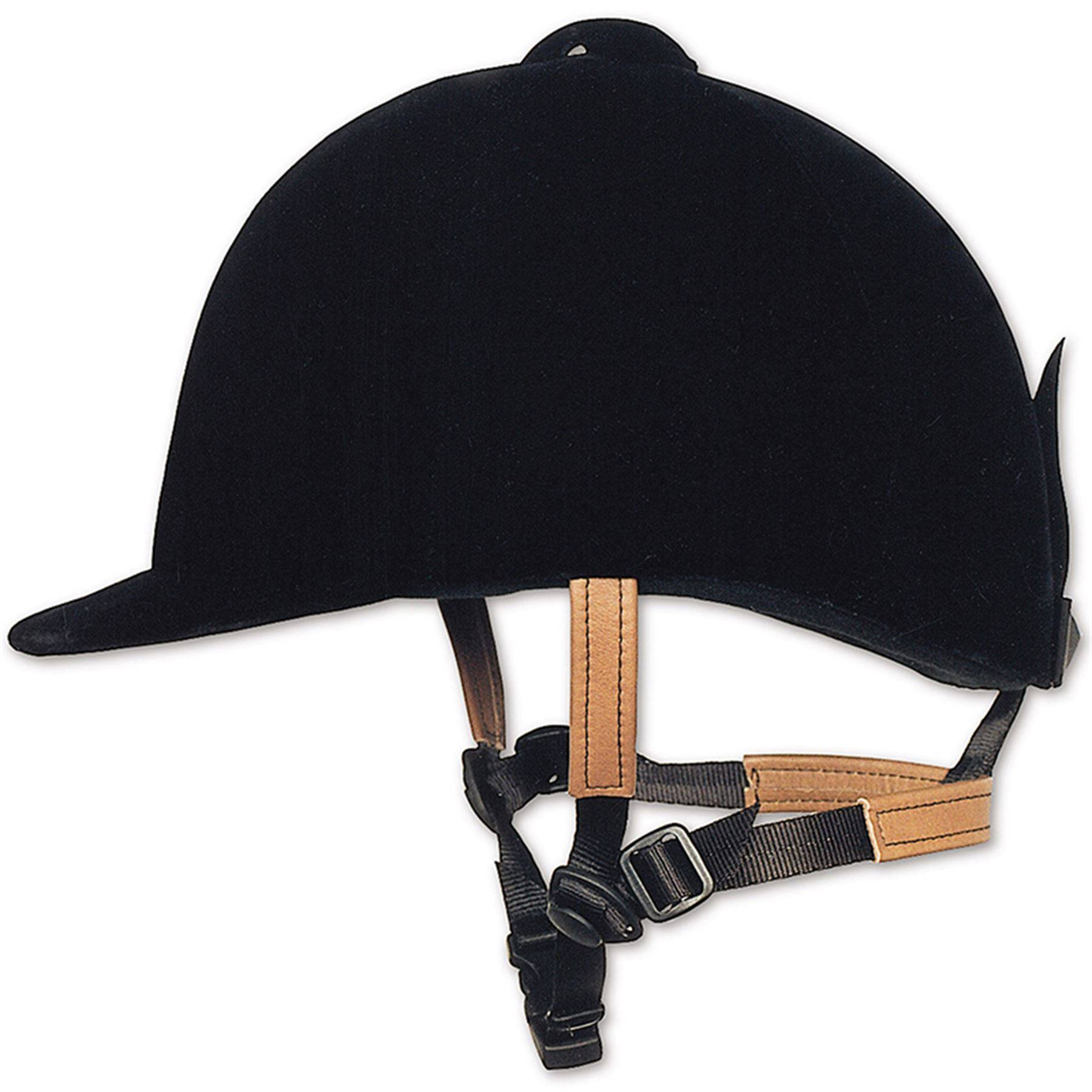 Olympian Velvet Helmet With 3 Point Adujstable Harness