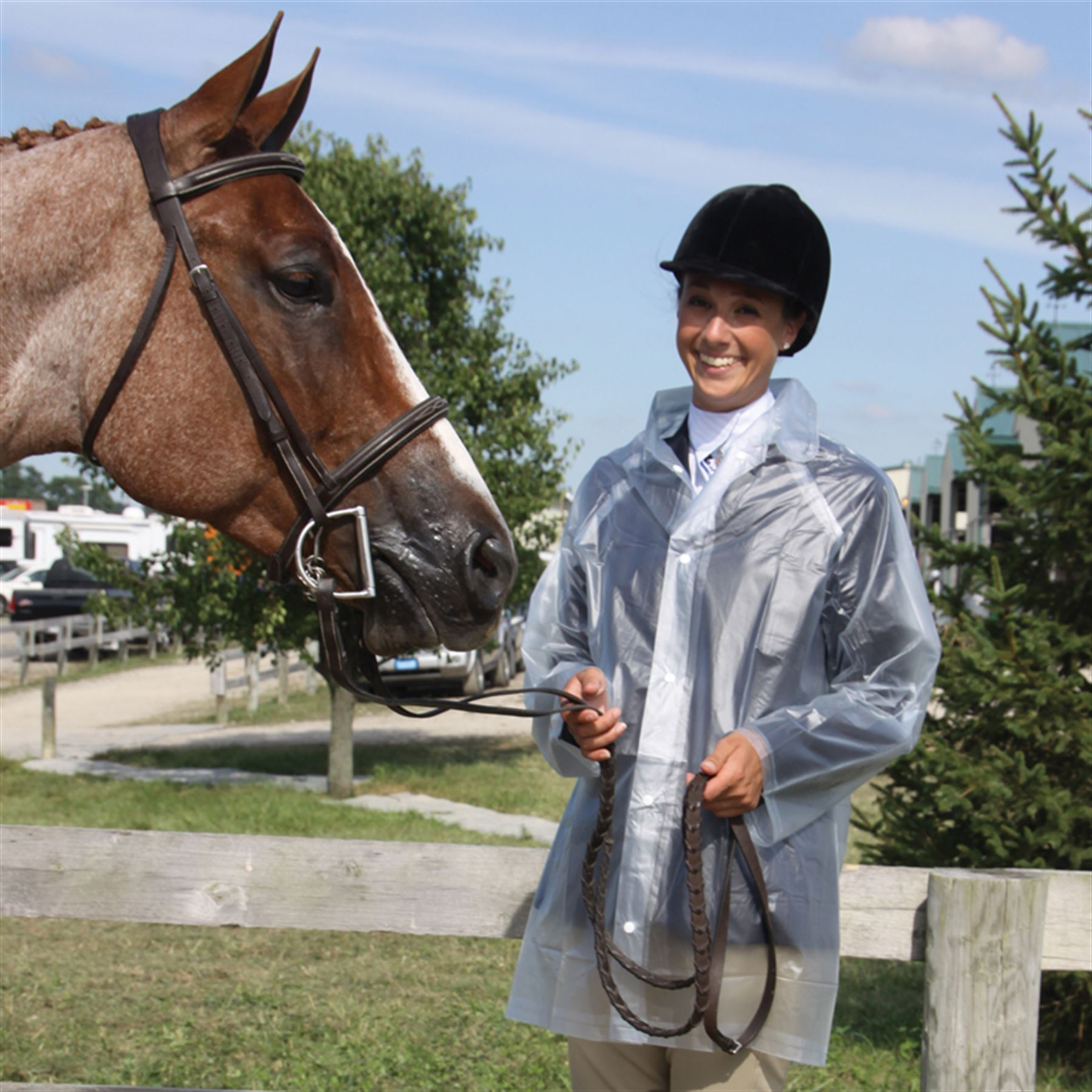 Clear Rain Coat 3 4 Length In Jackets At Schneider Saddlery