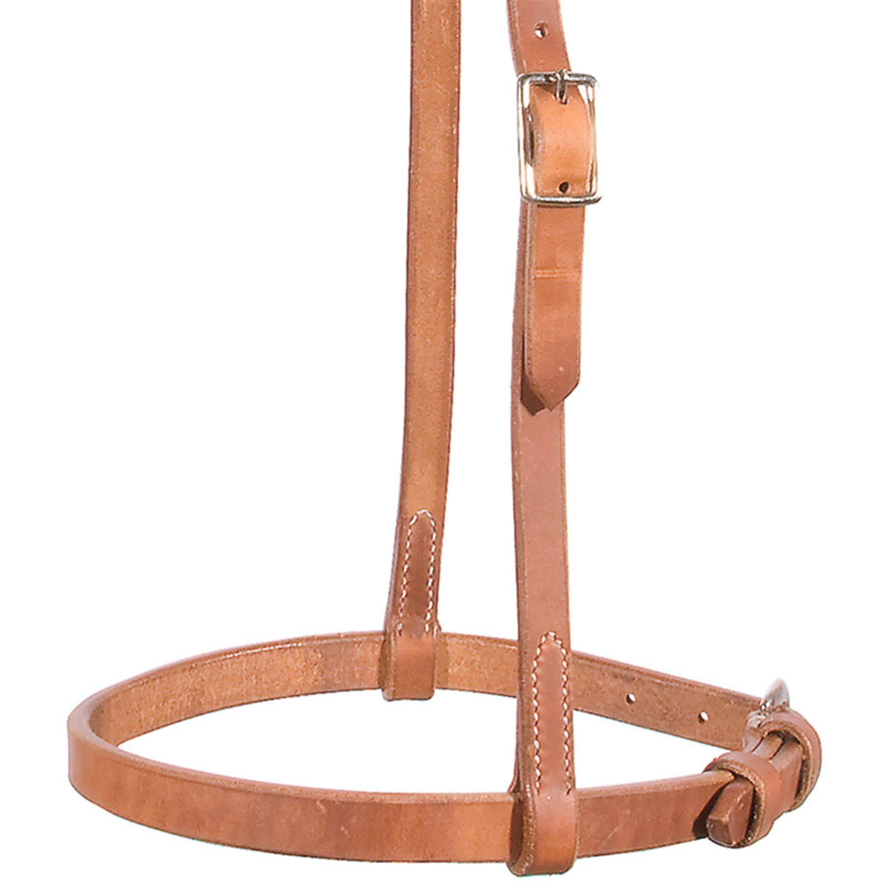 Billy Royal® Flat Nose Harness Leather Caveson with Sliding Cheeks