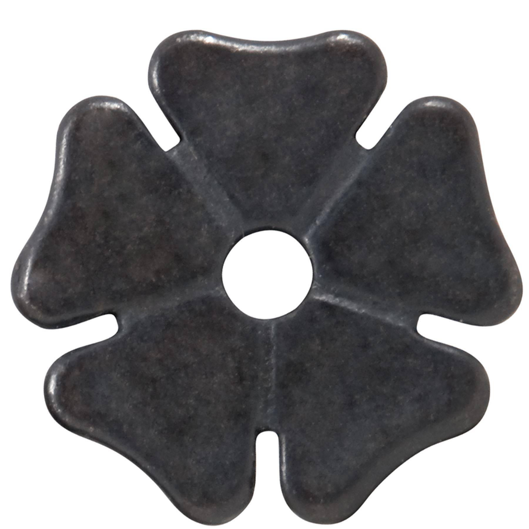 Cloverleaf Black Steel Rowel - Pair