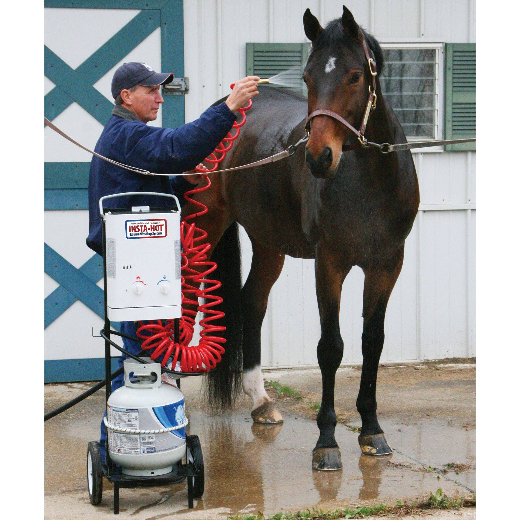 Insta Hot 174 Portable Equine Washing System In Bathing