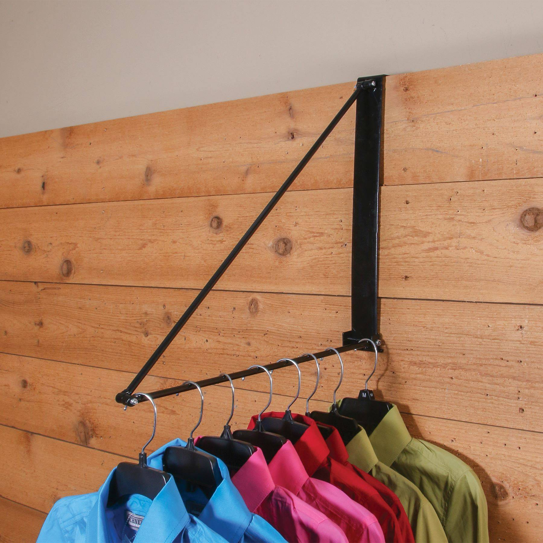 Easy up collapsible clothing hanger
