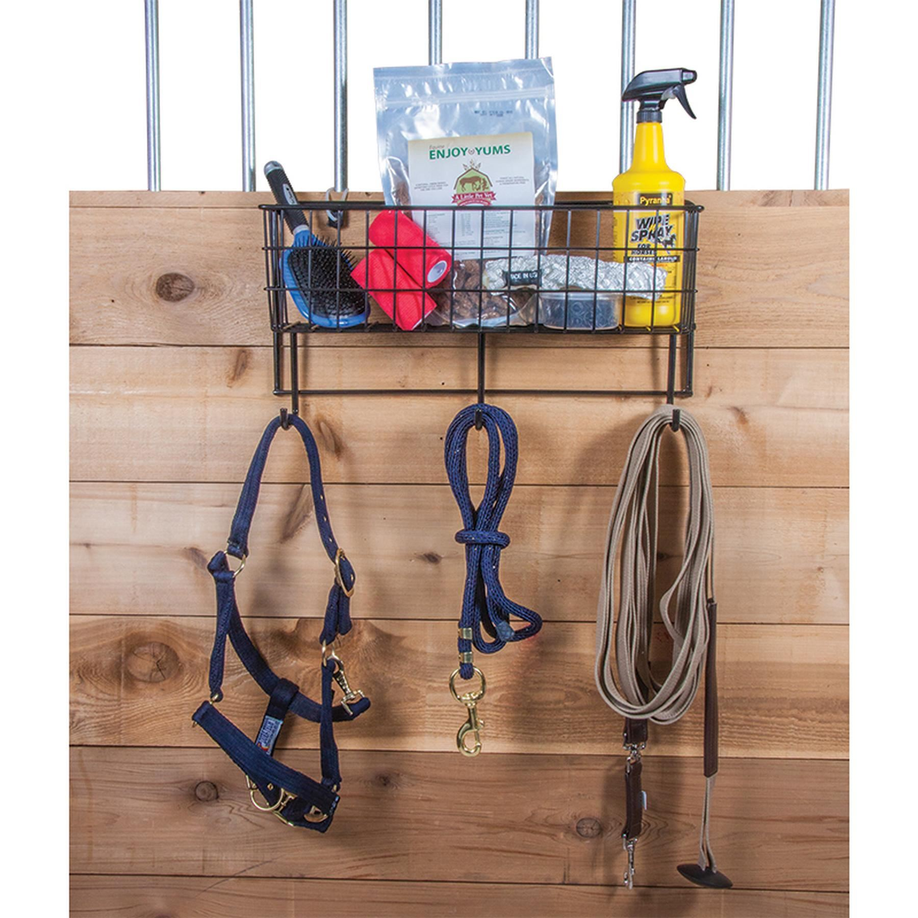 Easy-Up® Basket & Tack Rack In Stable Racks And Shelves At