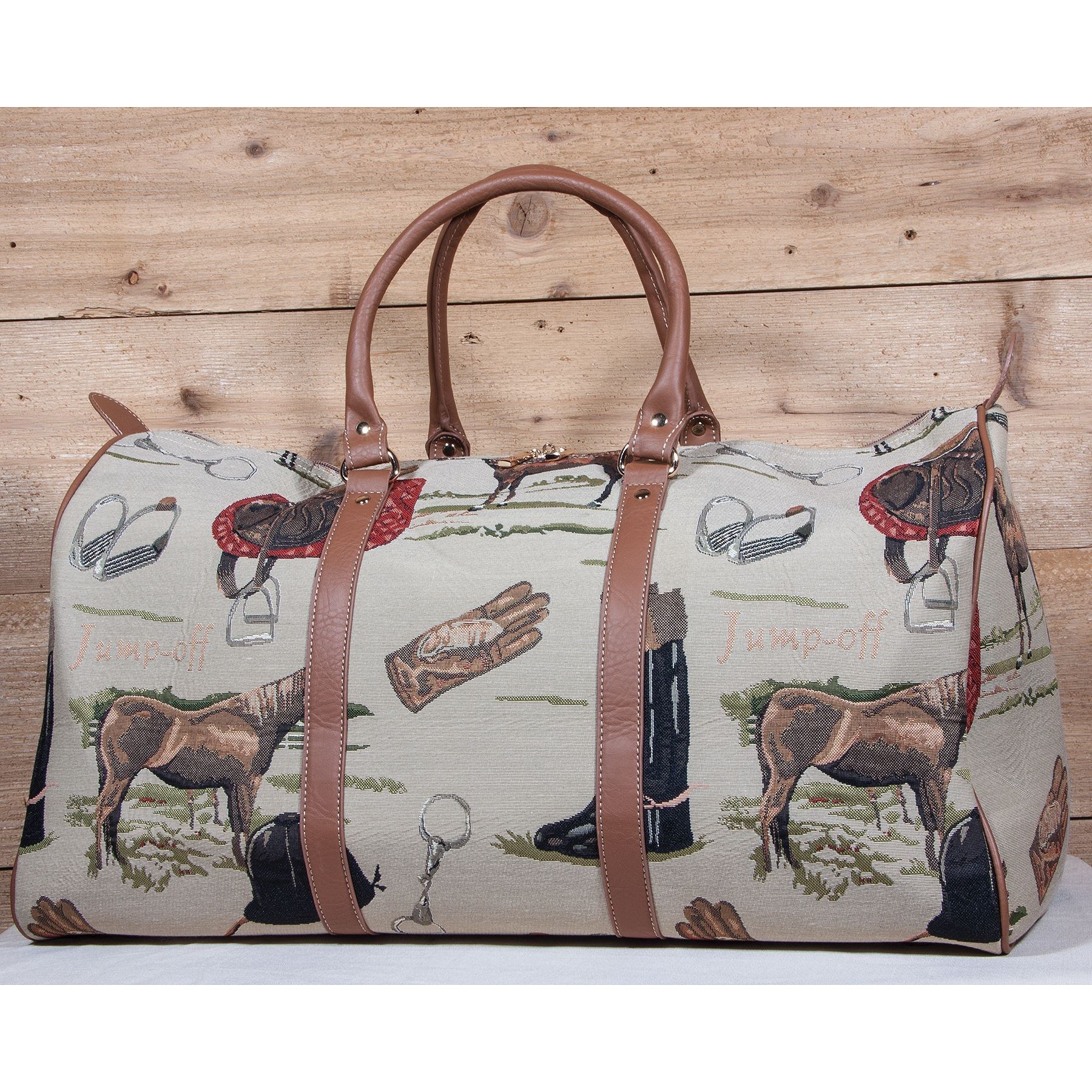 Equestrian Tapestry Duffle Bag