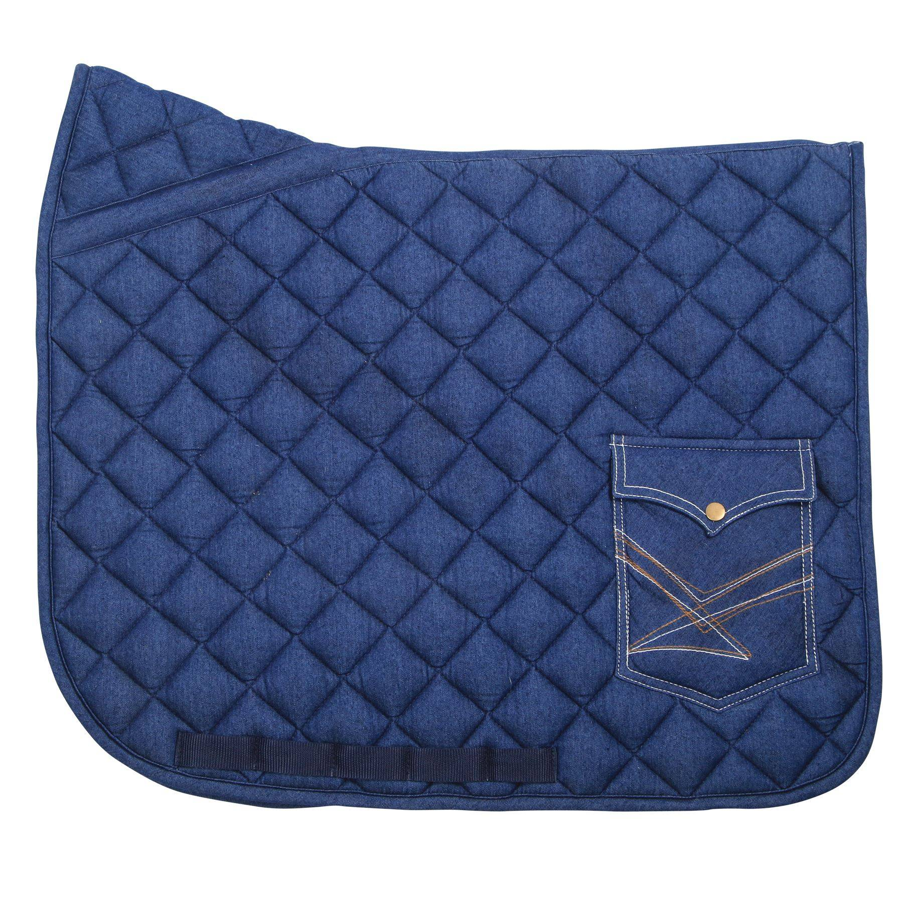 Dura-Tech® Denim Pocket Saddle Pad - Dressage