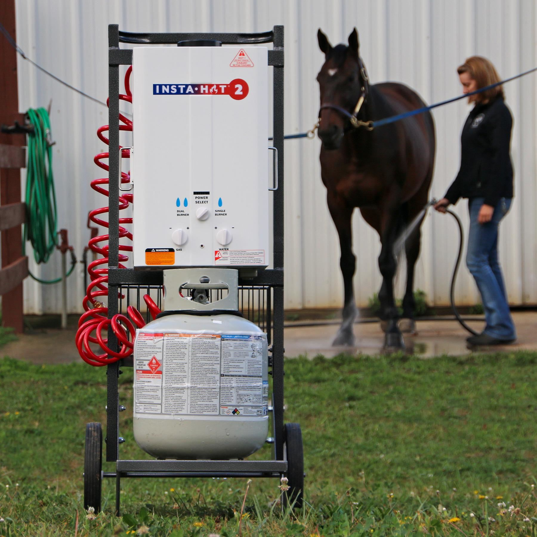 Insta-Hot® 2 Portable Horse Washing System Combo with Cart