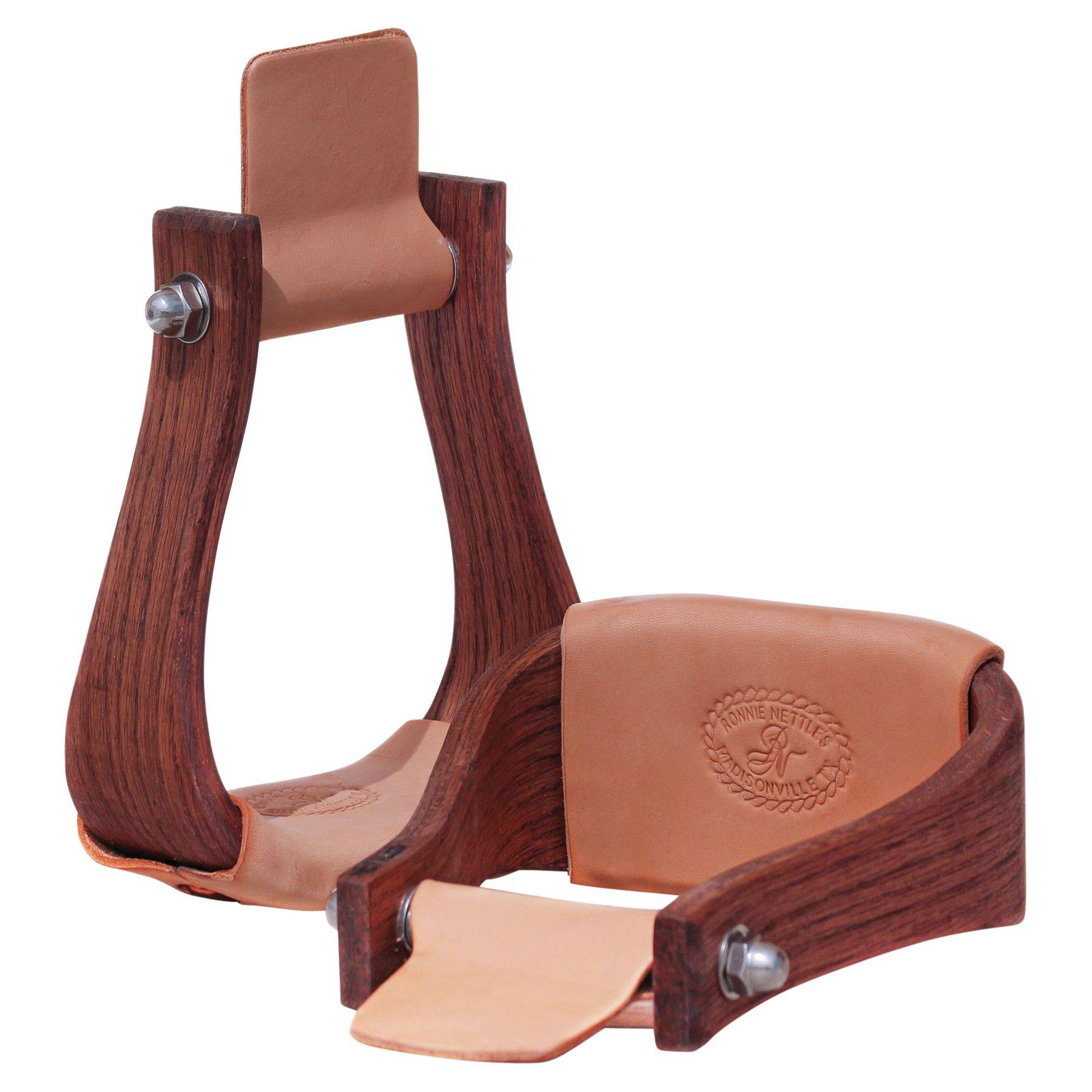 "Nettles 2"" The Duke Wooden Western Stirrups"