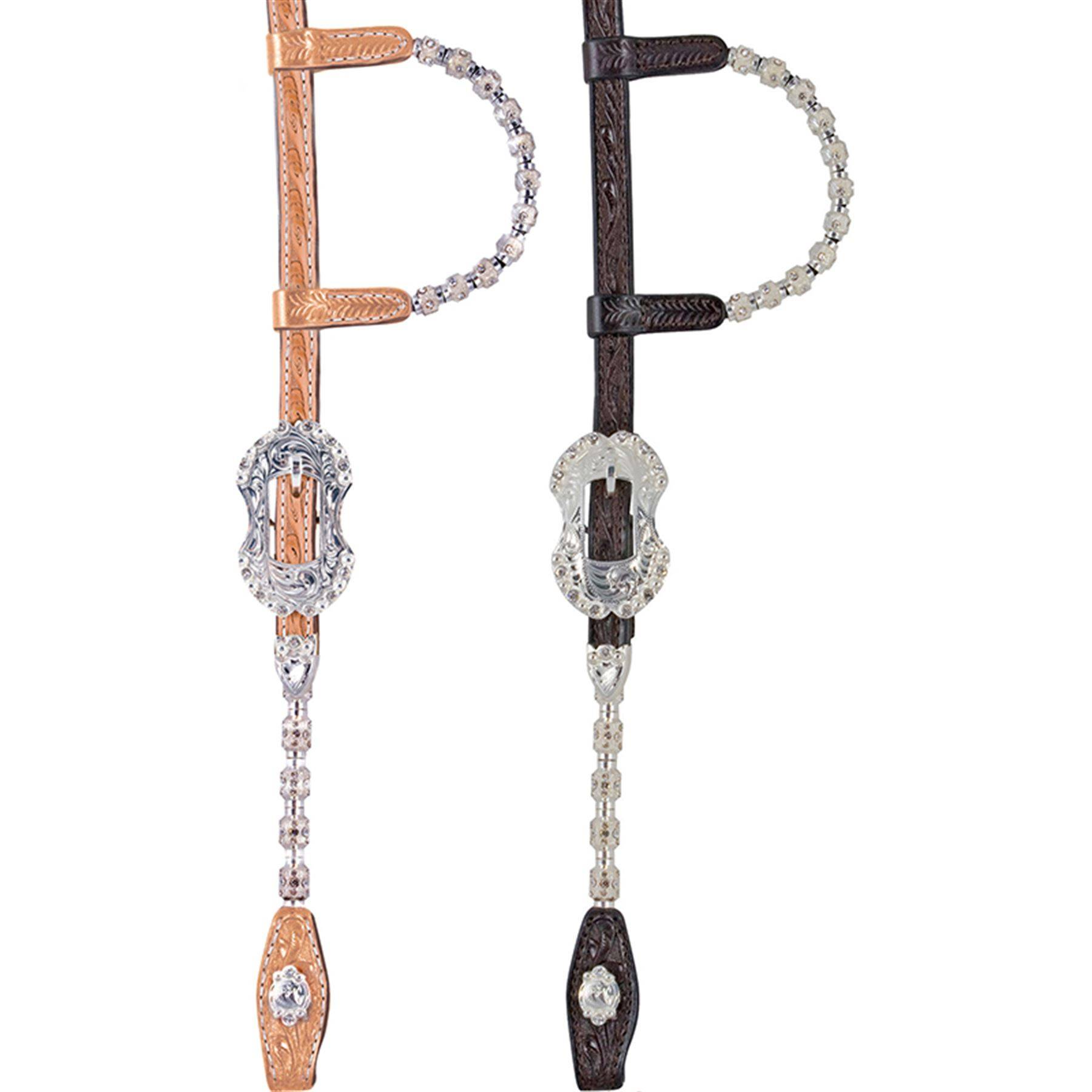 Billy Royal® Hexagon Crystal Two Ear Headstall