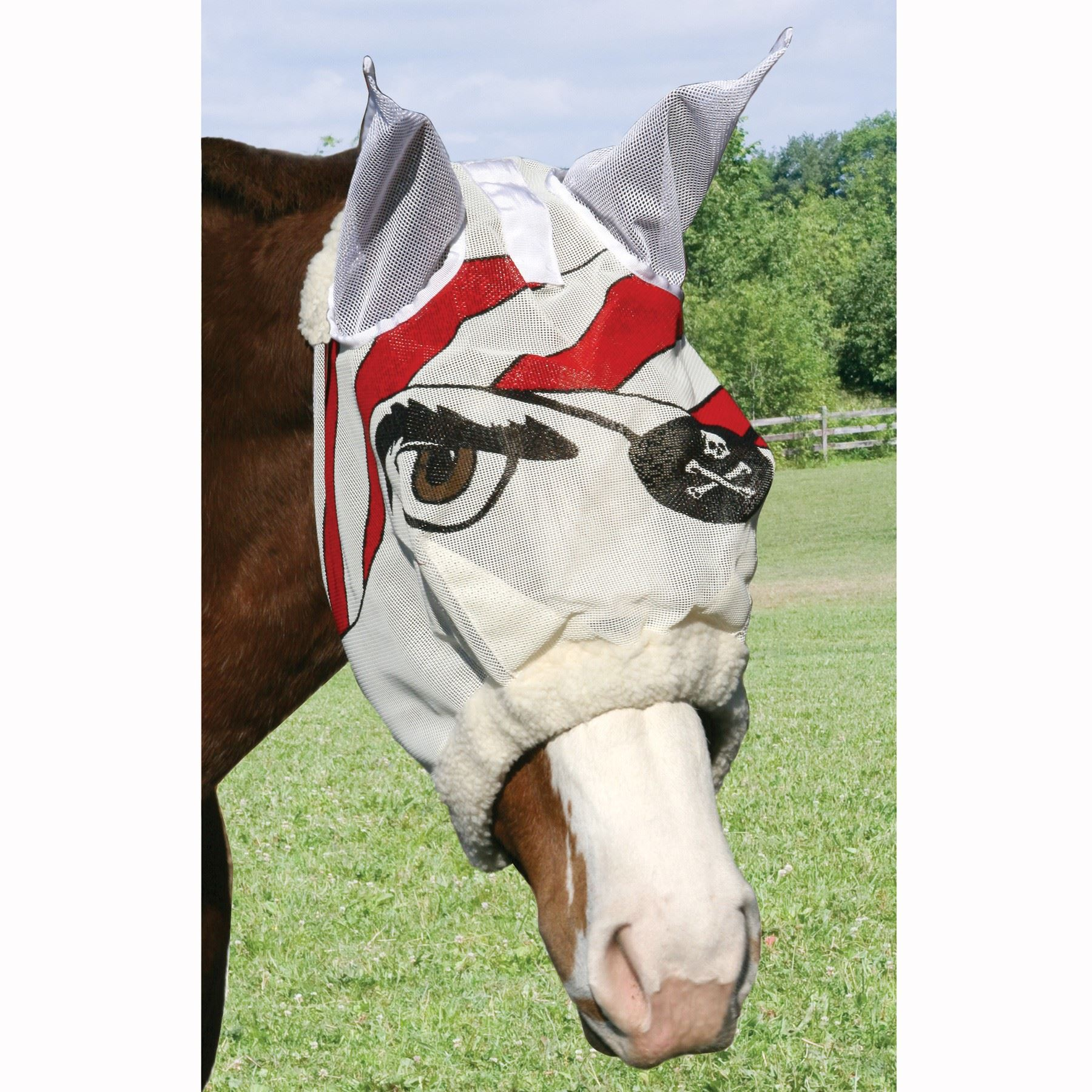 Pirate Designer Fly Mask with Ears
