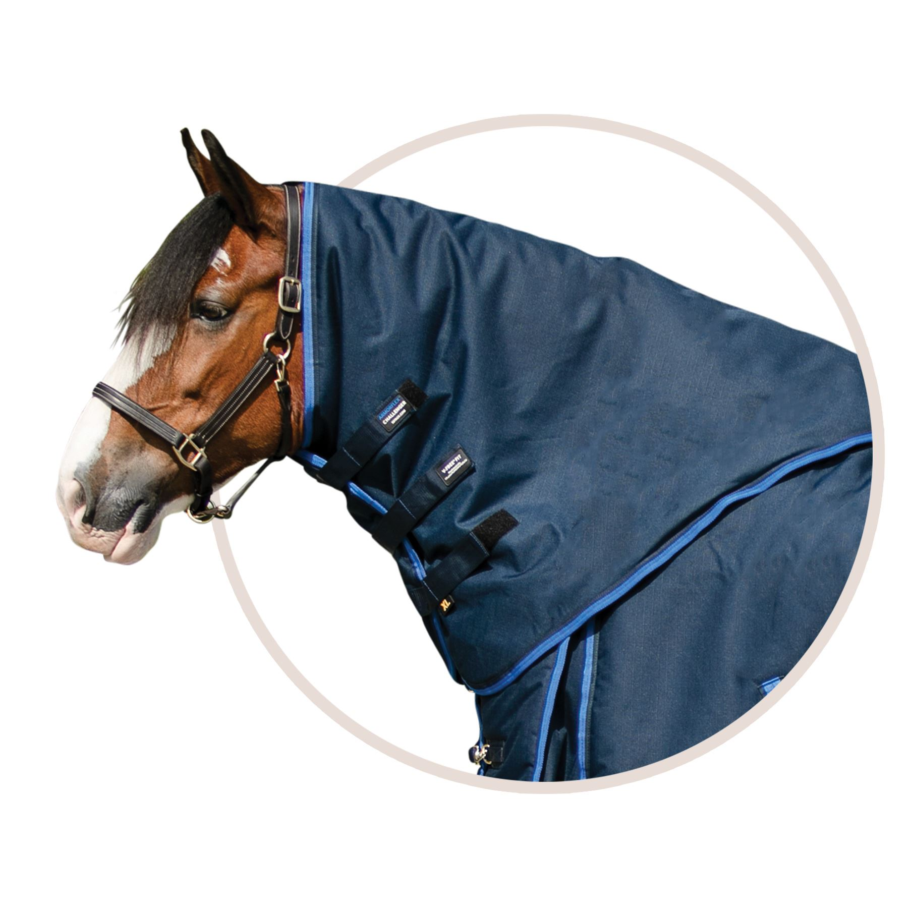 ARMORFlex® Challenger V-Free® Fit Big Fella Turnout Blanket Neck Cover