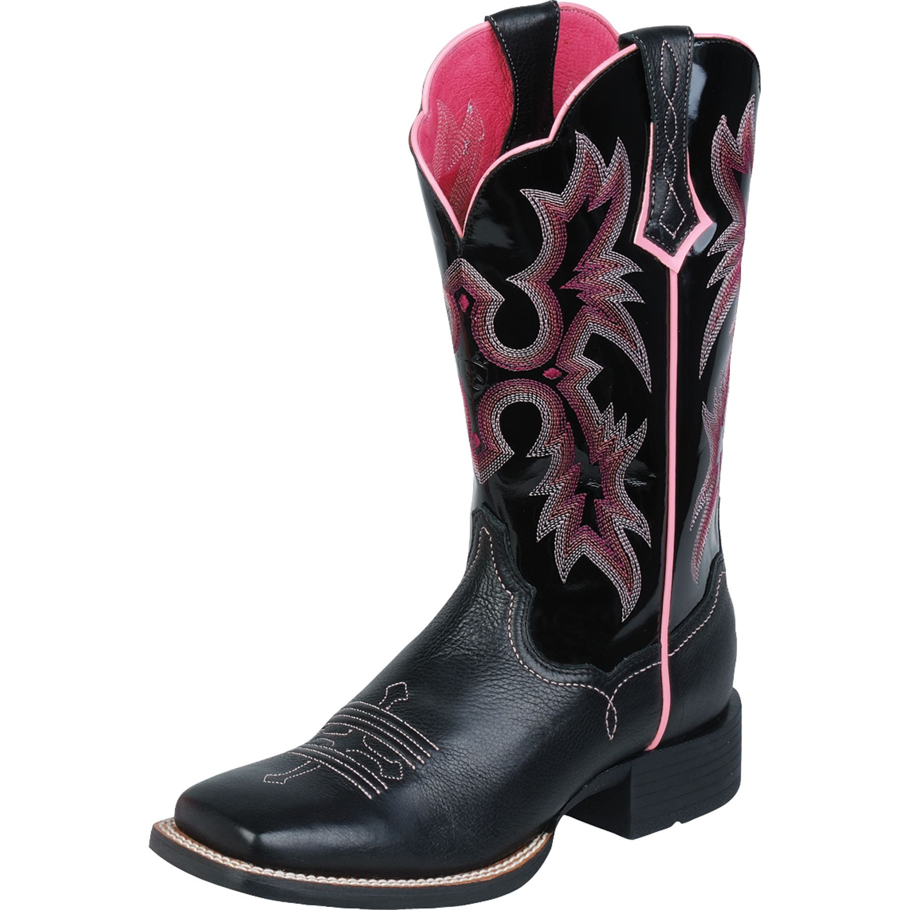 Ariat L Tombstone Black Pink In Western Arena Boots At