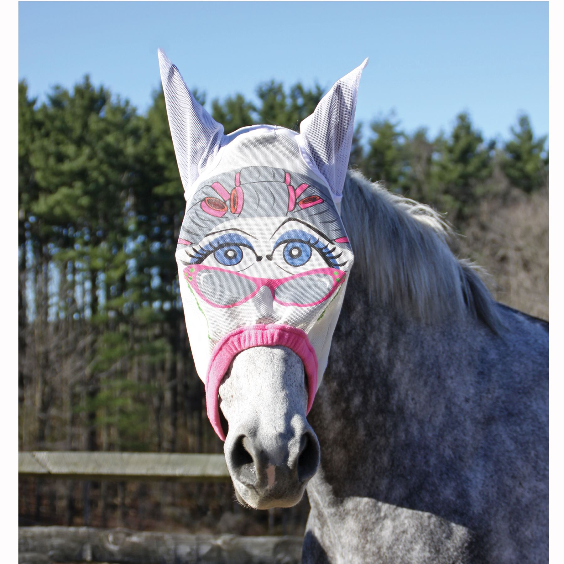 Dura-Tech® Granny Designer Fly Mask With Ears