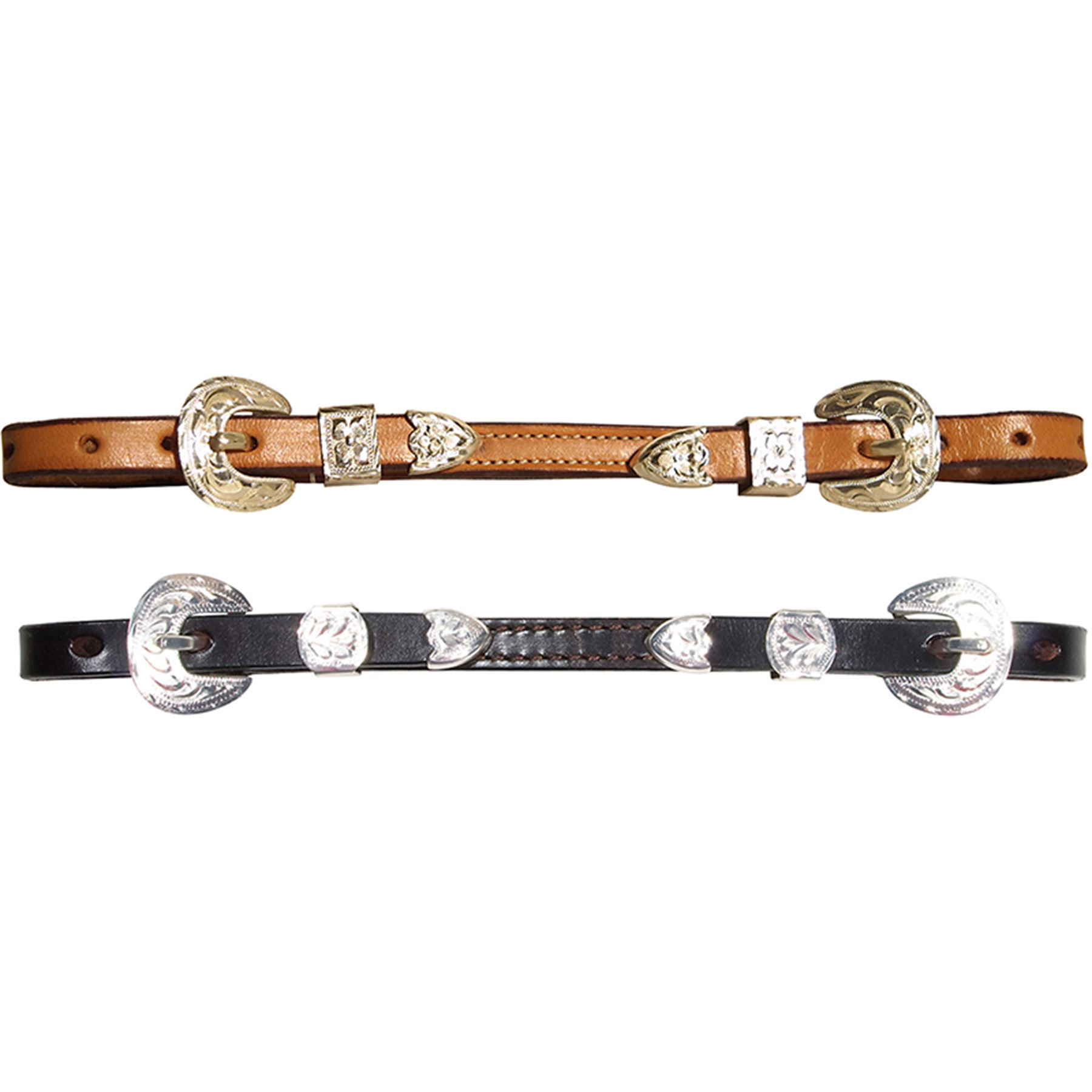 "Billy Royal® 1/2"" Leather Show Curb Strap"