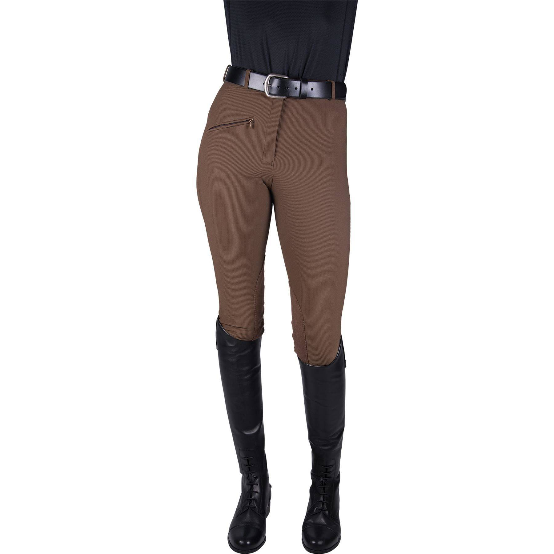 TuffRider® Ladies Ribb Kneepatch Breech