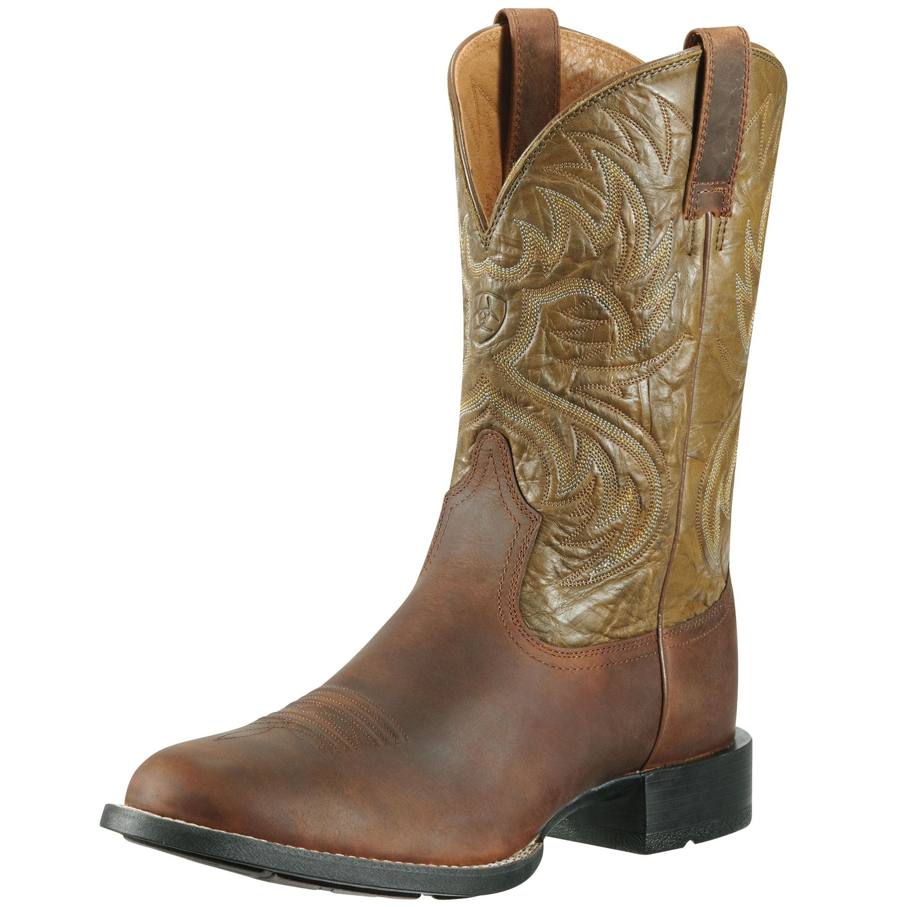 Ariat Mens Heritage Horseman Distress/Army Green Boot