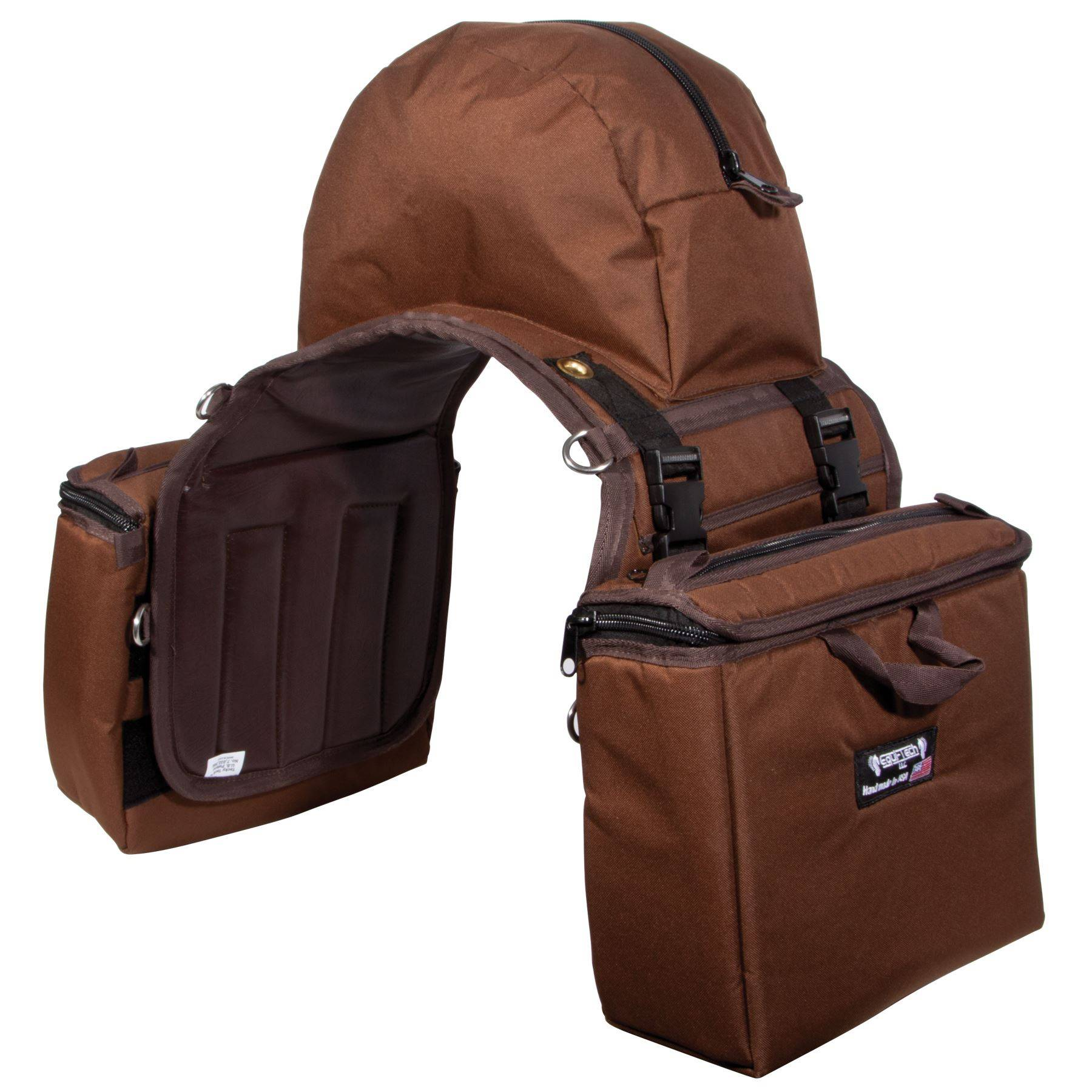Equi Tech Stay Put Insulated Saddle Bag Large In Western