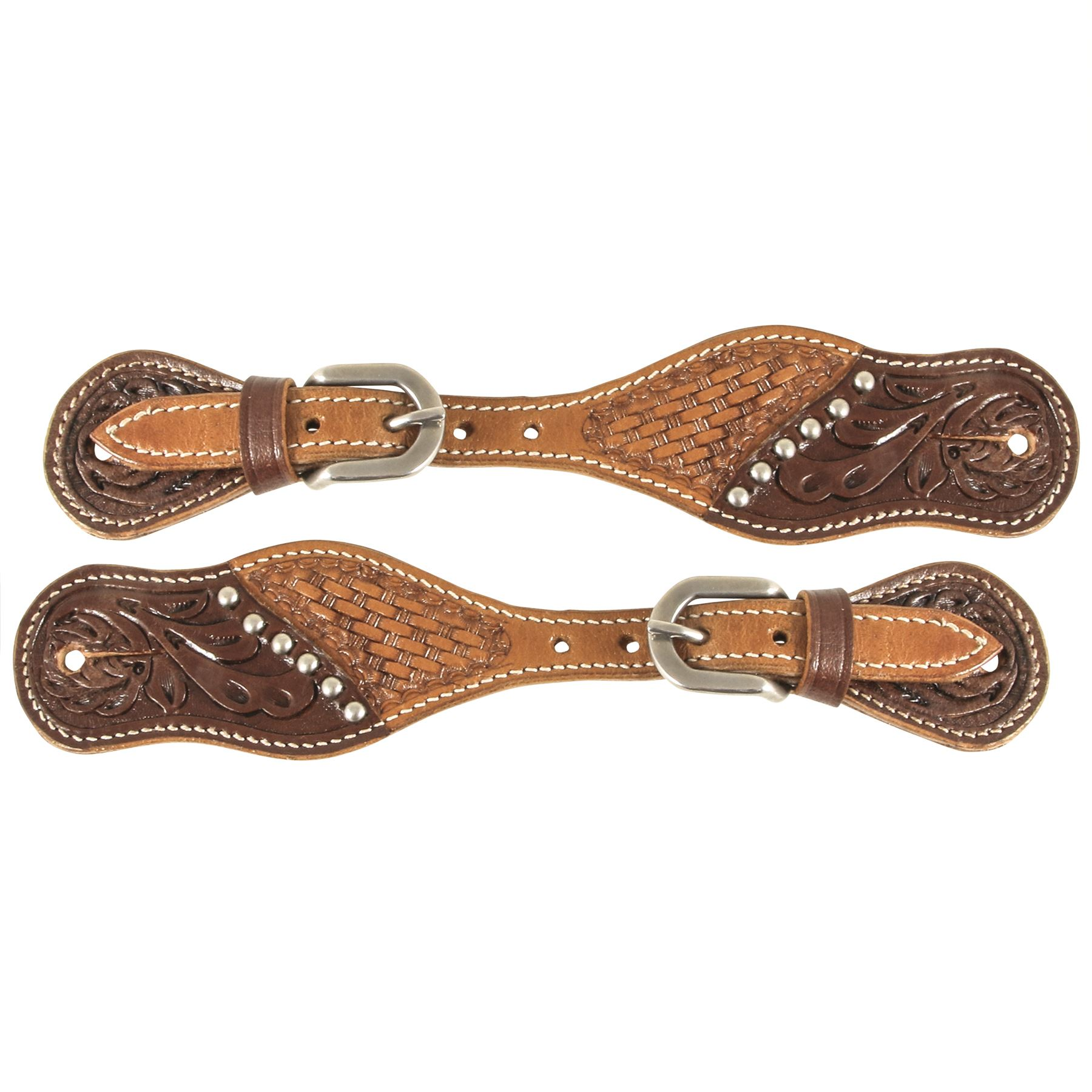 Double S Two Tone Spur Straps