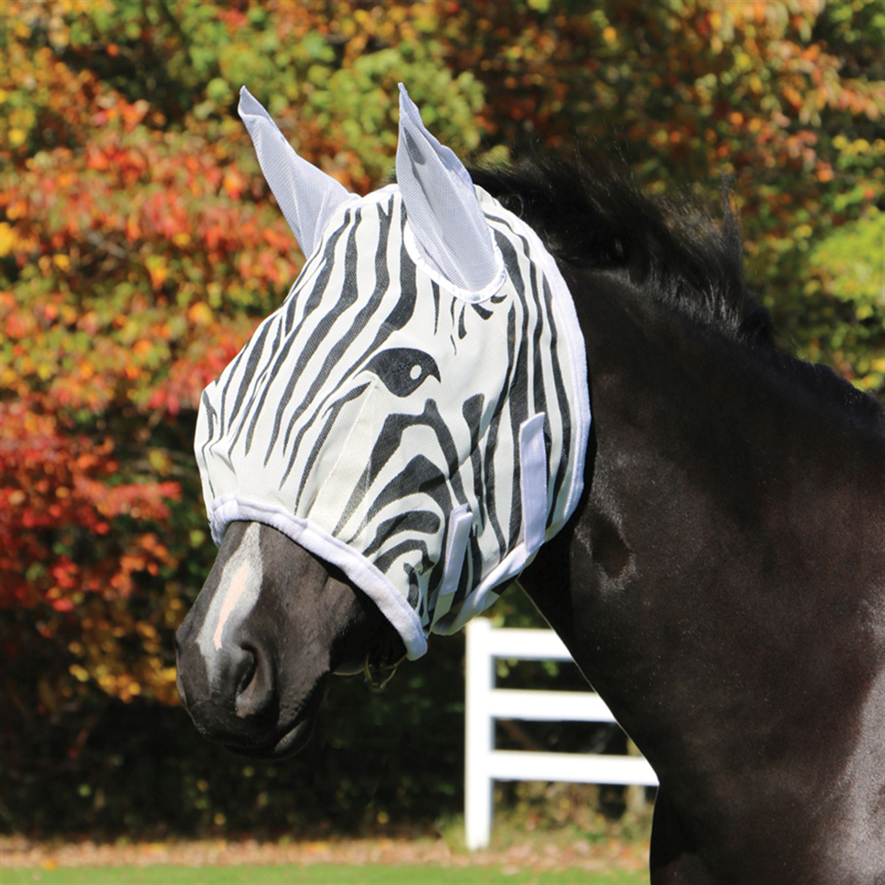 Dura-Tech® Zebra Fly Mask with Ears