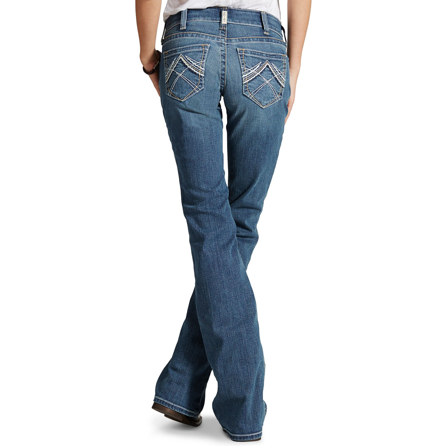 Ariat Ladies Whipstitch REAL Riding Jeans - Rainstorm