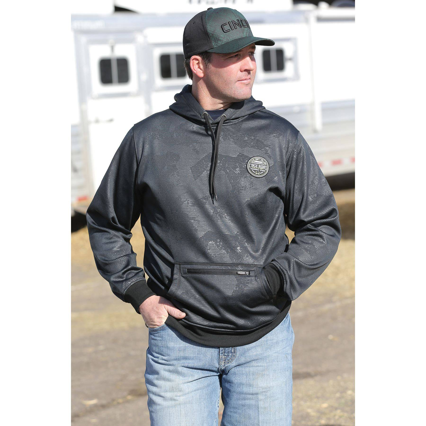 Cinch Men's Poly Tech Hoodie