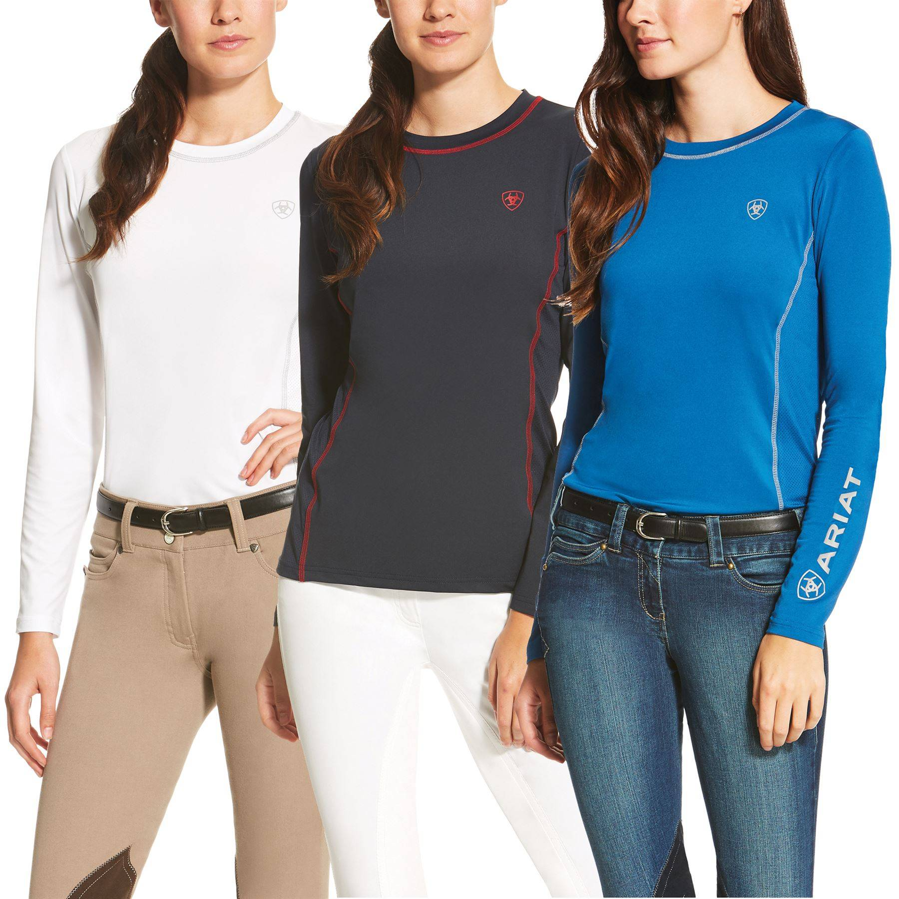 Ariat Ladies Cambria Logo Crew Neck Long Sleeve Shirt