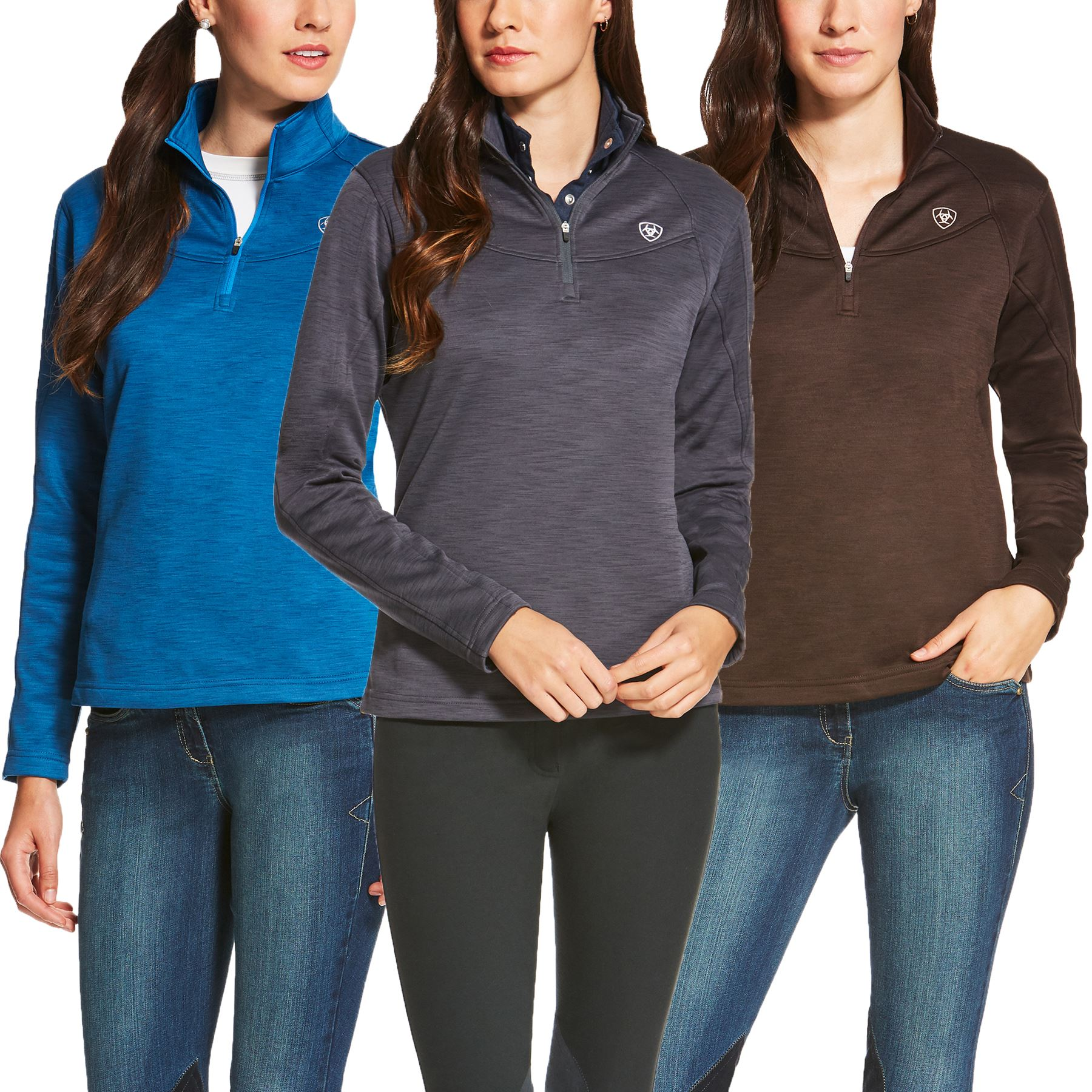 Ariat Ladies Conquest 1/4 Zip Long Sleeve Shirt