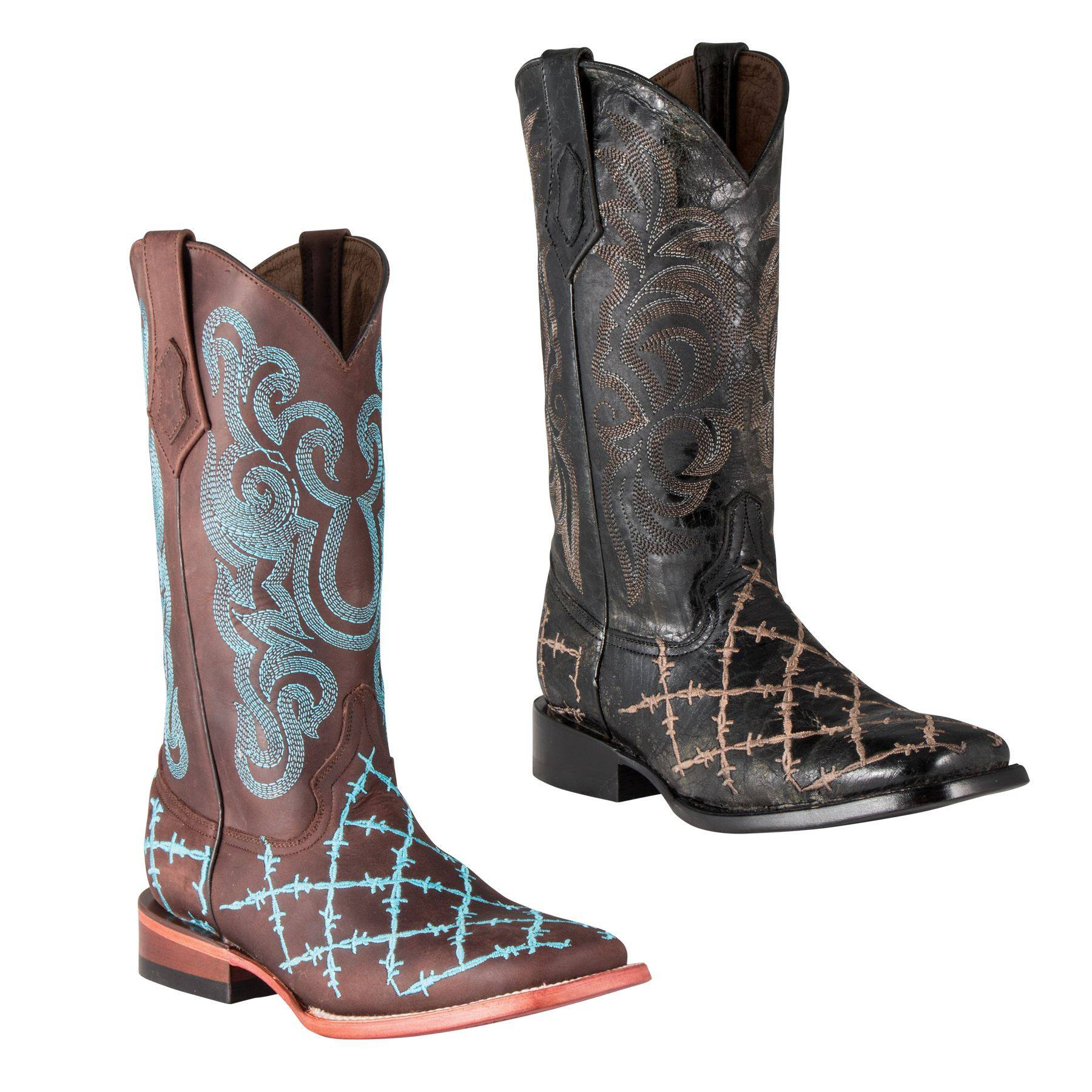 Ferrini Ladies Barbed Wire Boots in Western Fashion Boots at ...