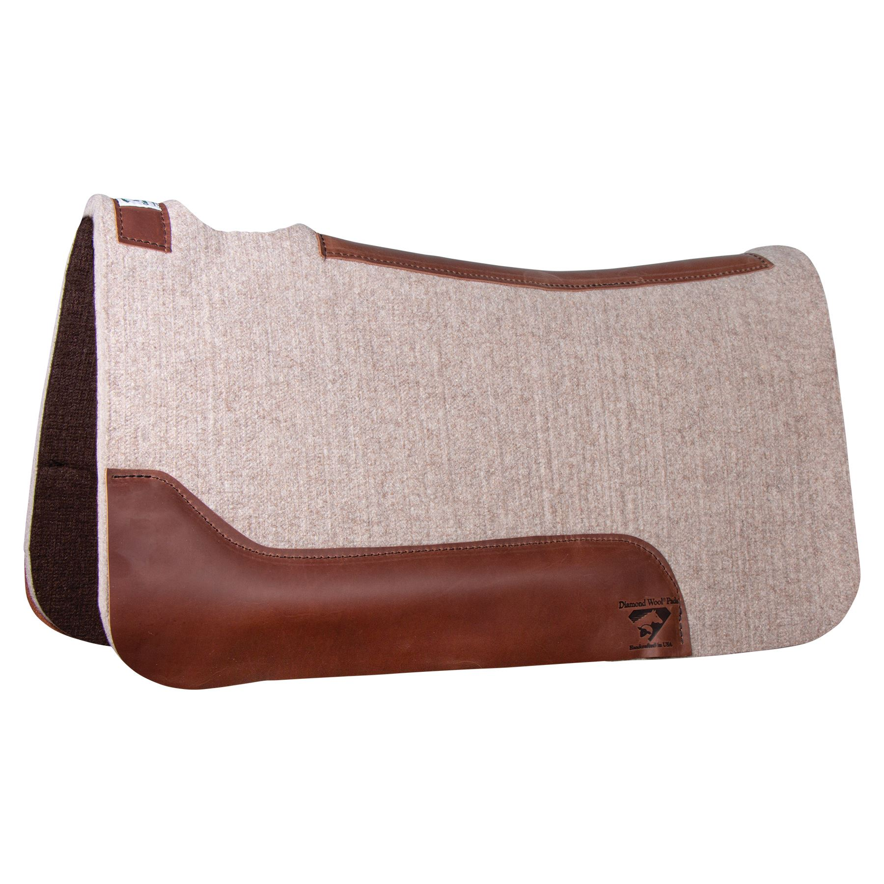 Diamond Wool Contour Cowboy Felt Western Saddle Pad