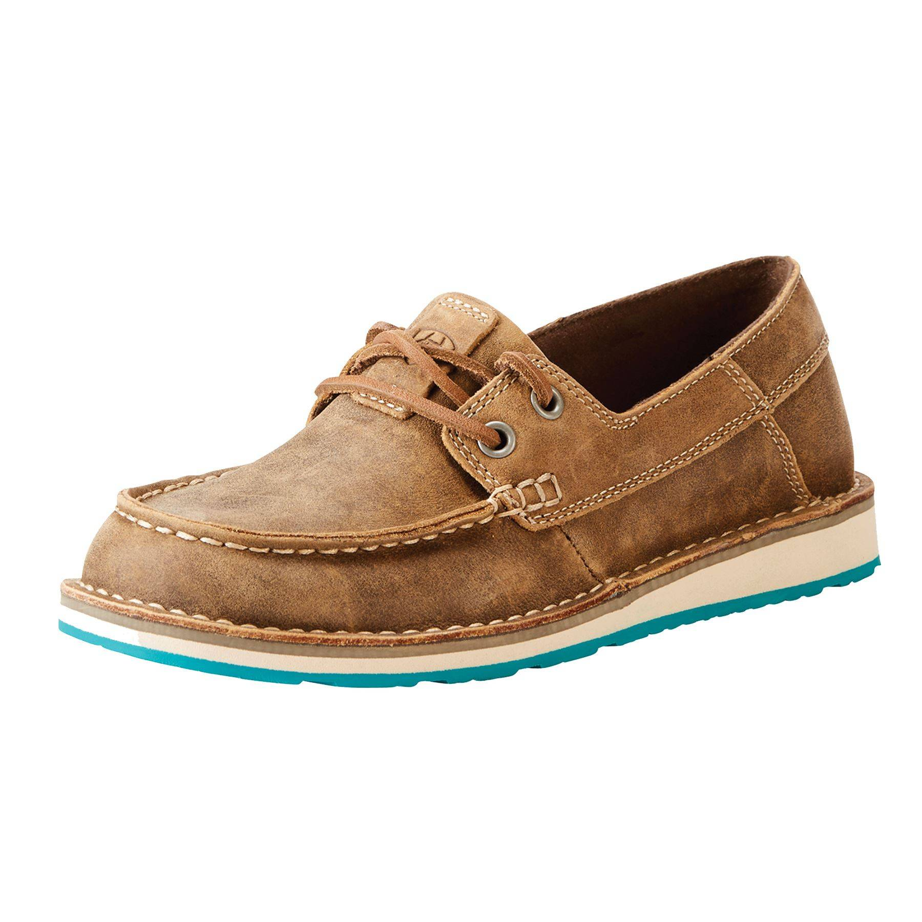 ariat ladies cruiser castaway brown bomber casual shoes in