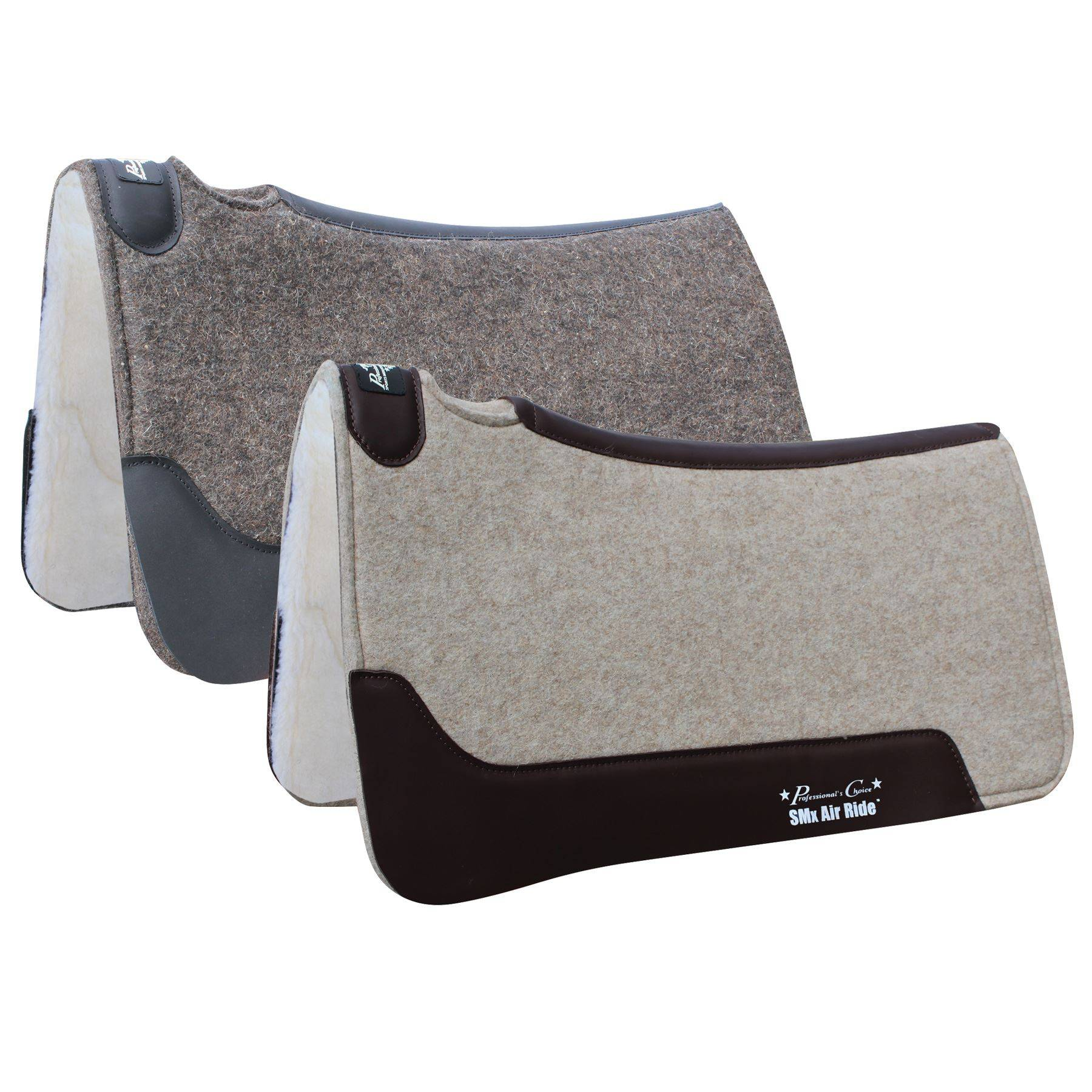 Professional's Choice® Close Contact Cowboy Felt Deluxe Air Ride™ Roper Western Saddle Pad