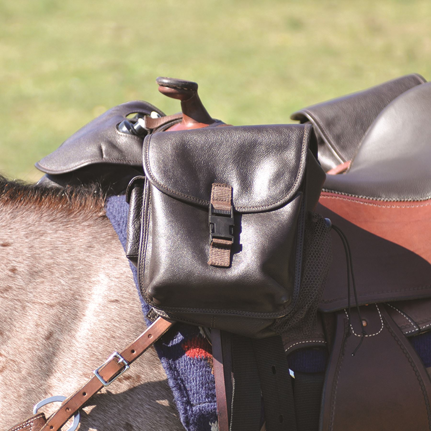 Cashel 174 Small Leather Horn Saddle Bag In Western At