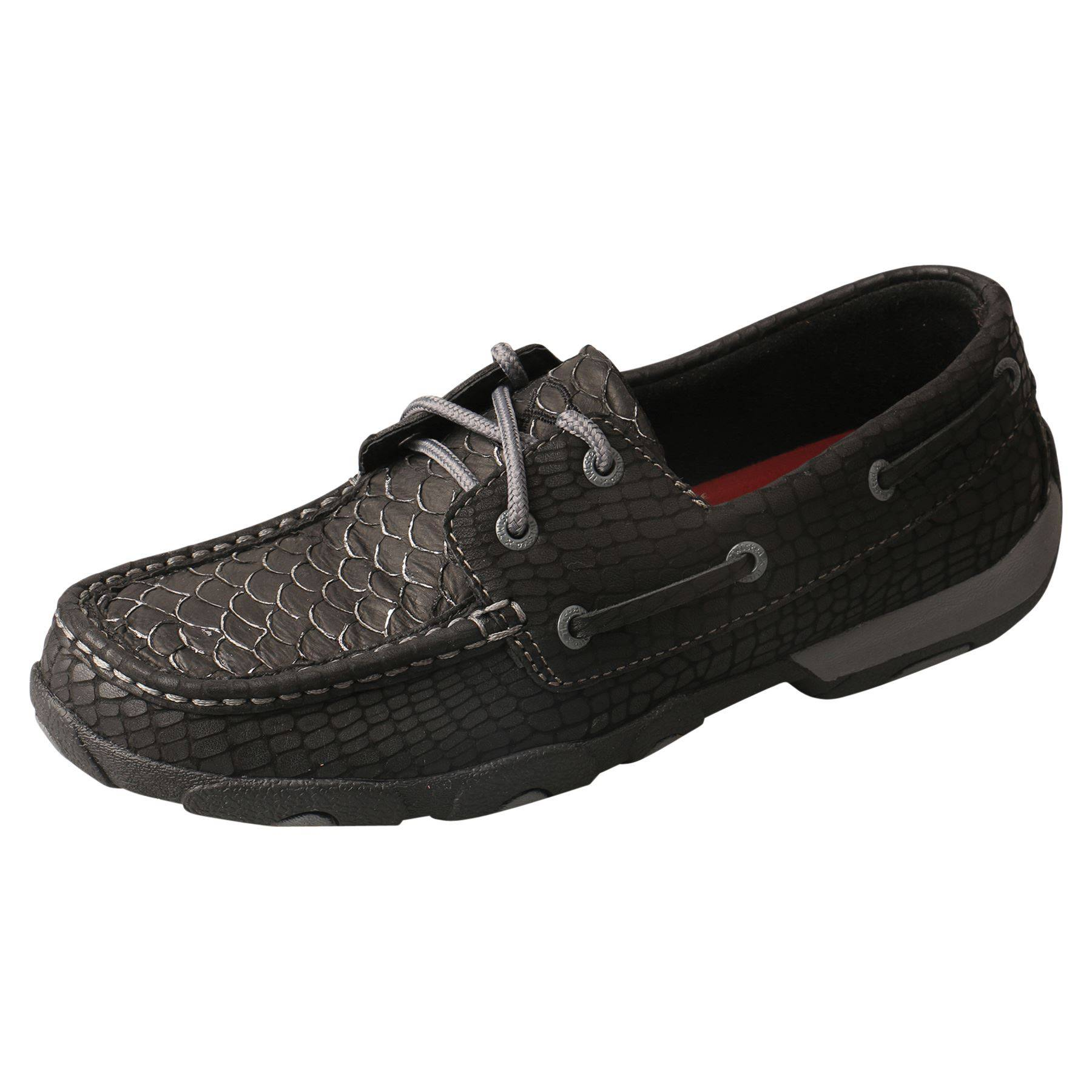 ad62963df3f Twisted X Womens Black Fish Grey Driving Mocs in Apparel Boots at ...