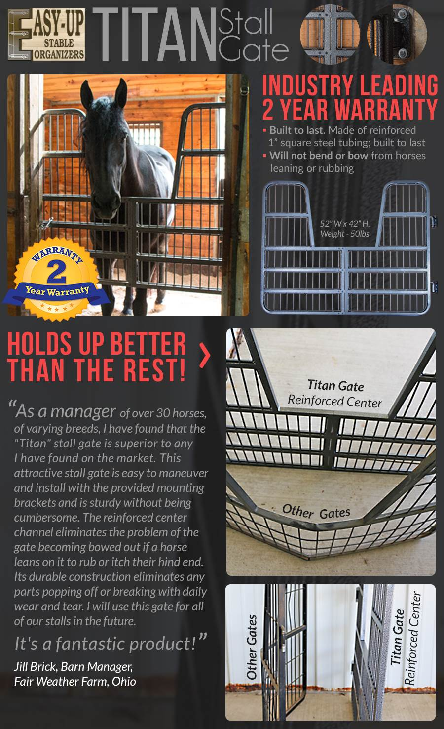 Easy-Up® Titan Stall Gate