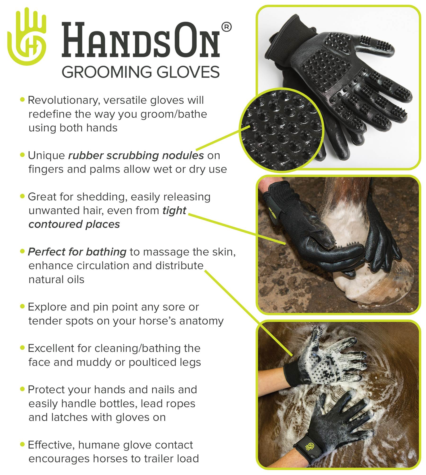 HandsOn® Grooming Gloves