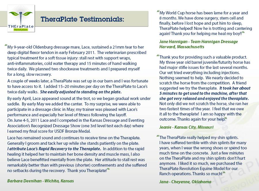 TheraPlate Customer Testimonials