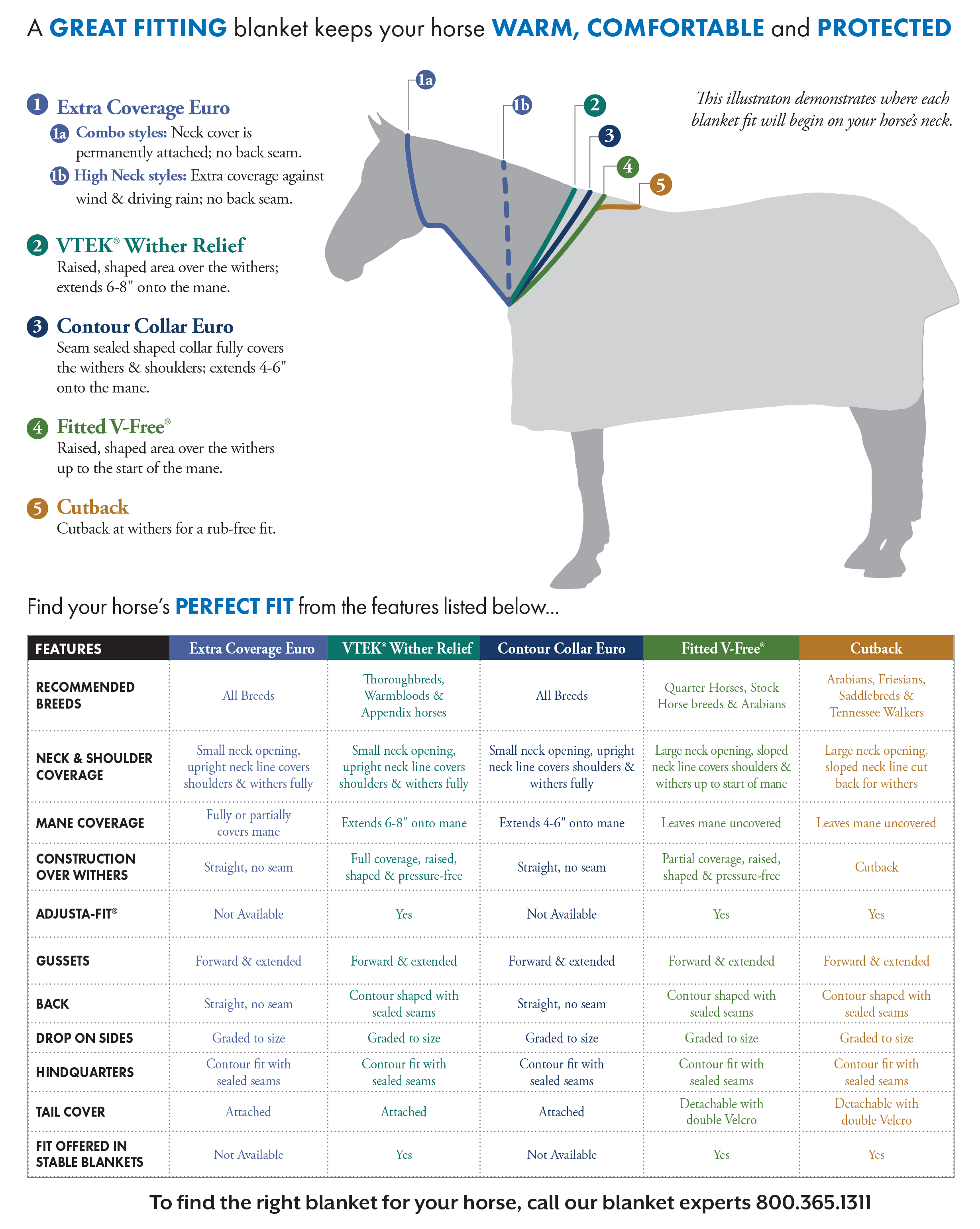 Find your horse's perfect FIT with our Schneider's Horse Turnout Blanket Fit Guide