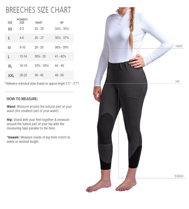 Noble Outfitters™ Breeches Size Chart