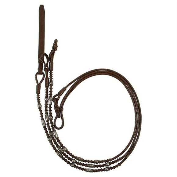 Double S Braided Silver Plate Show Romel Reins