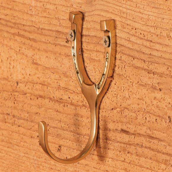 Small Brass Horseshoe Hook