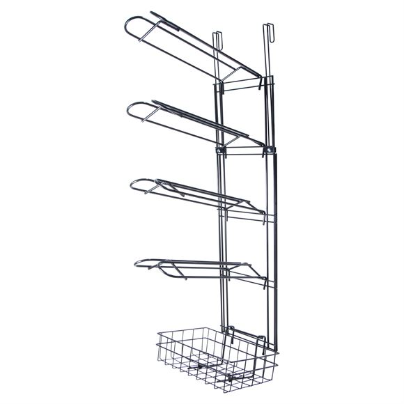 Easy-Up® 5 Tier Interchangeable System with 4 Saddle Racks & Basket