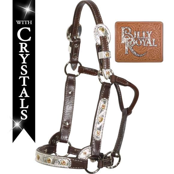Billy Royal® Flowers & Red Stones Classic Show Halter