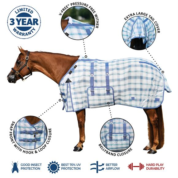 Dura-Mesh Fitted V-Free® Bellyband Fly Sheet