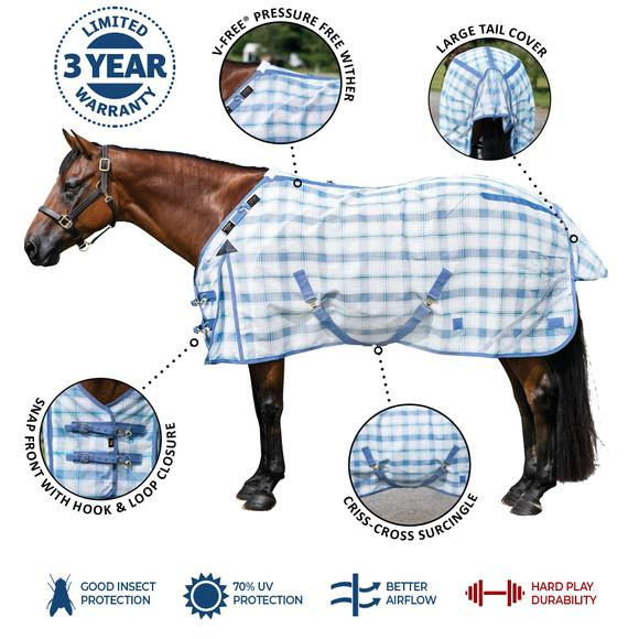 Dura-Mesh Fitted V-Free® Open Front Fly Sheet